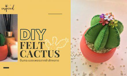 DIY Felt Cactus Pincushion : DIY ต้นกระบองเพชรด้วยผ้าสักหลาด ไม่ต้องรดน้ำก็รอด (เย็บมือ)