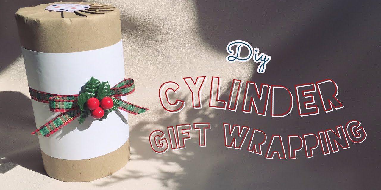 DIY Cylinder Gift Wrapping for Valentine : วิธีห่อของขวัญวันวาเลนไทน์ที่เป็นกล่องทรงกระบอก ทรงกลม