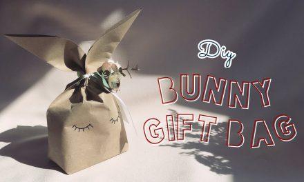 DIY Easter Bunny Rabbit Gift Paper Bag : วิธีทำถุงกระดาษน้องกระต่ายสำหรับใส่ของขวัญวันวาเลนไทน์