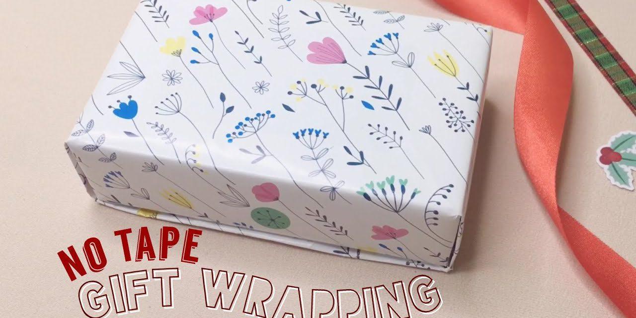 DIY Gift Wrapping for Valentine (No Tape) วิธีห่อของขวัญวันวาเลนไทน์แบบง่ายๆ ไม่ต้องใช้เทป