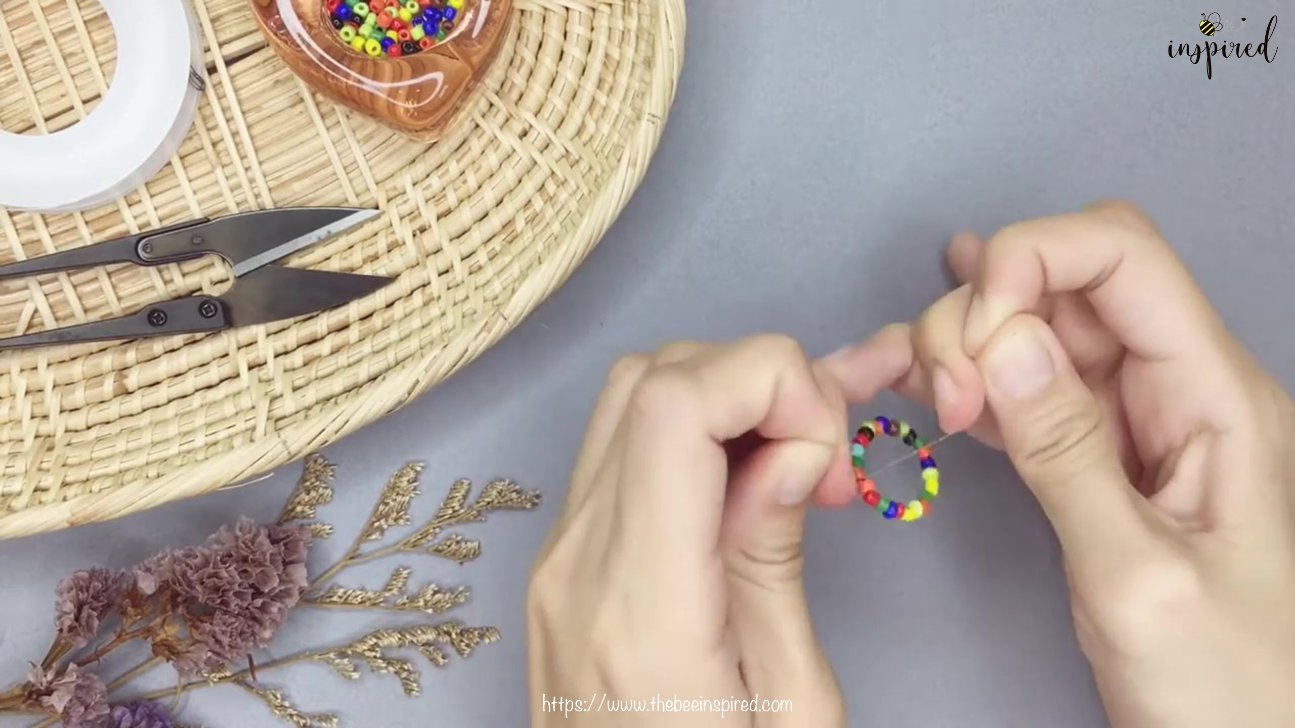 DIY Beaded Ring-1-5