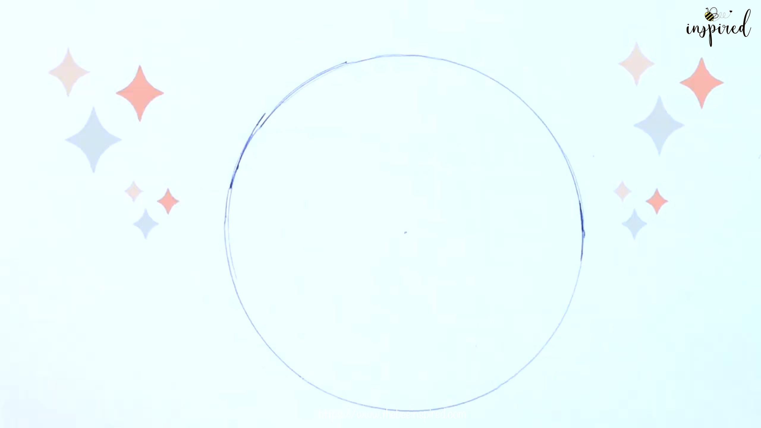 วาดวงกลมไม่ใช้วงเวียนให้กลม+ได้ขนาดที่ต้องการ How to Draw a Perfect Circle Freehand without Compass_7
