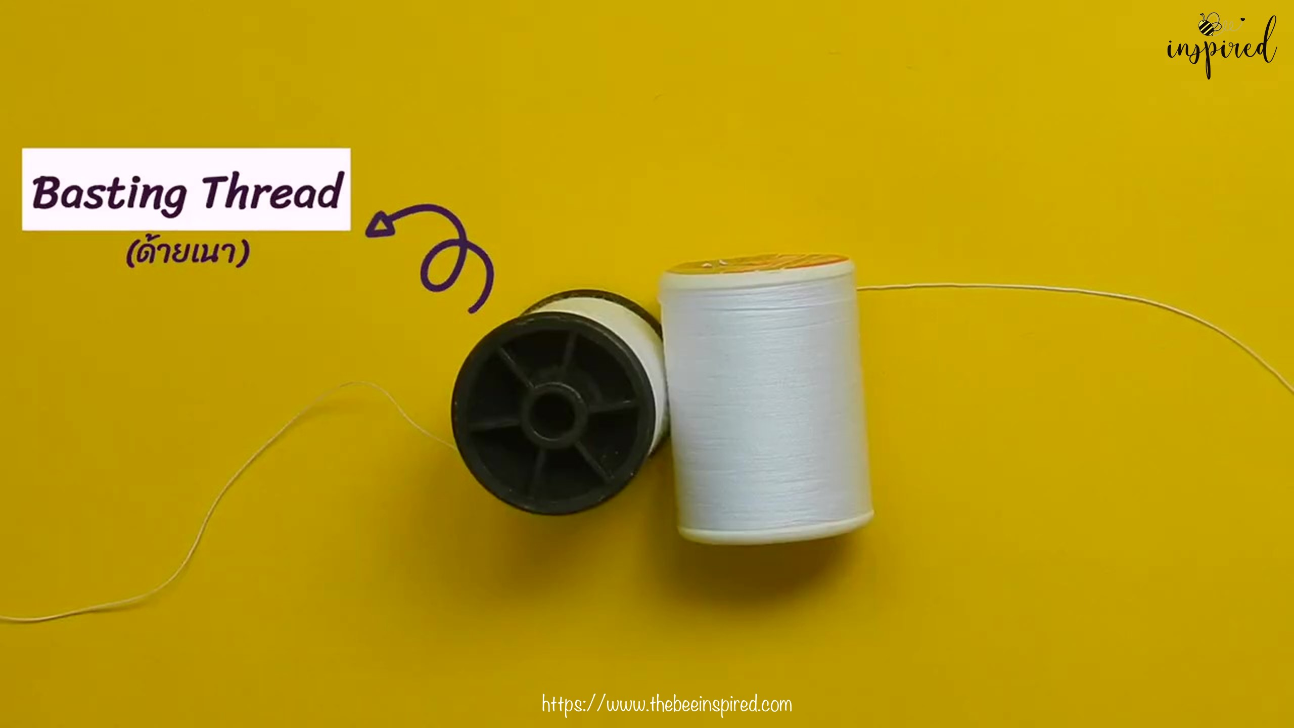 วิธีการเนาผ้า (How to Sew a Basting Stitch)_5