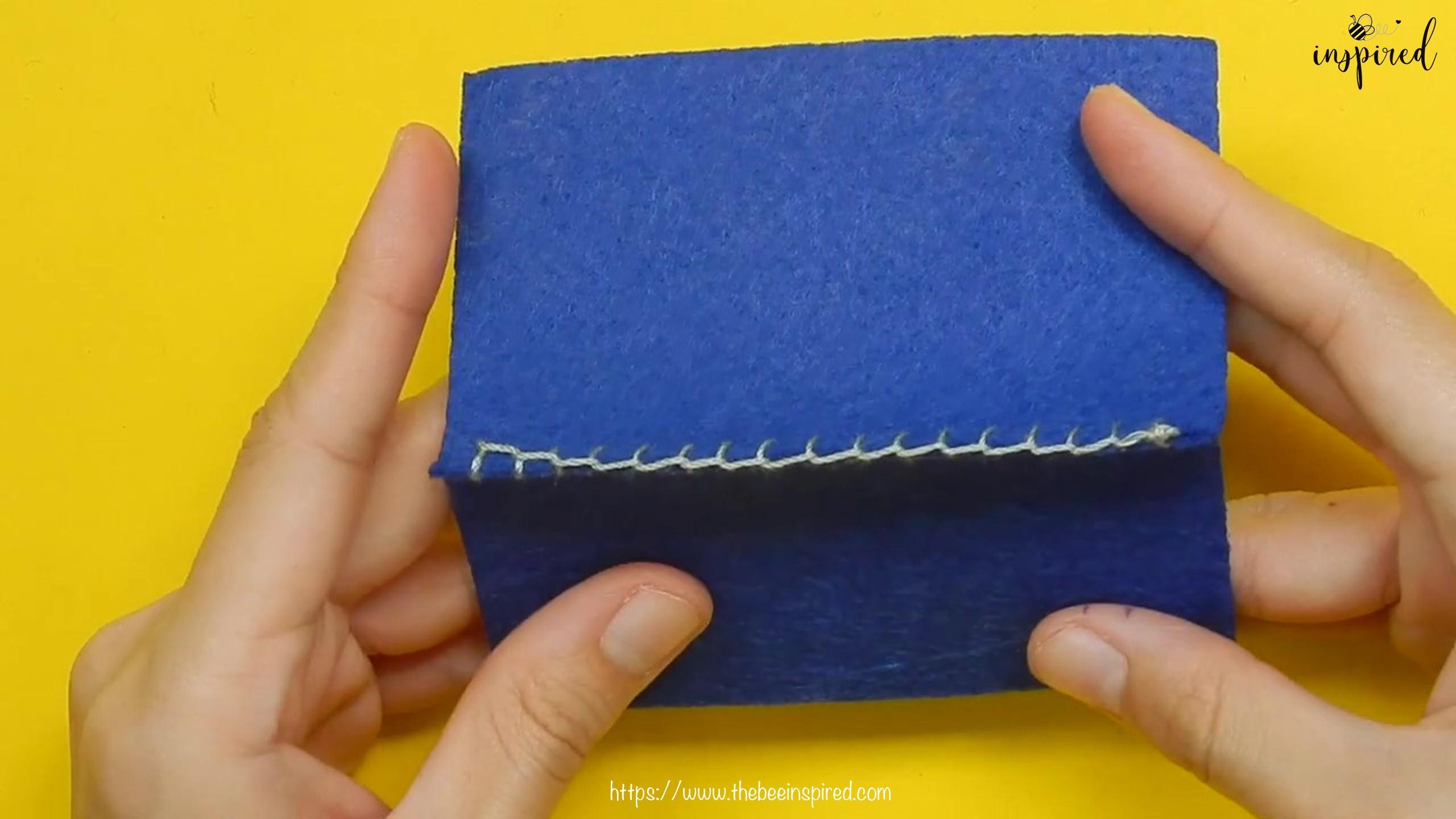 วิธีการเย็บลายปักริมผ้าห่ม (How to Sew a Blanket Stitch) _ วิธีเย็บเก็บริมผ้าโดยไม่ใช้จักรโพ้ง_16