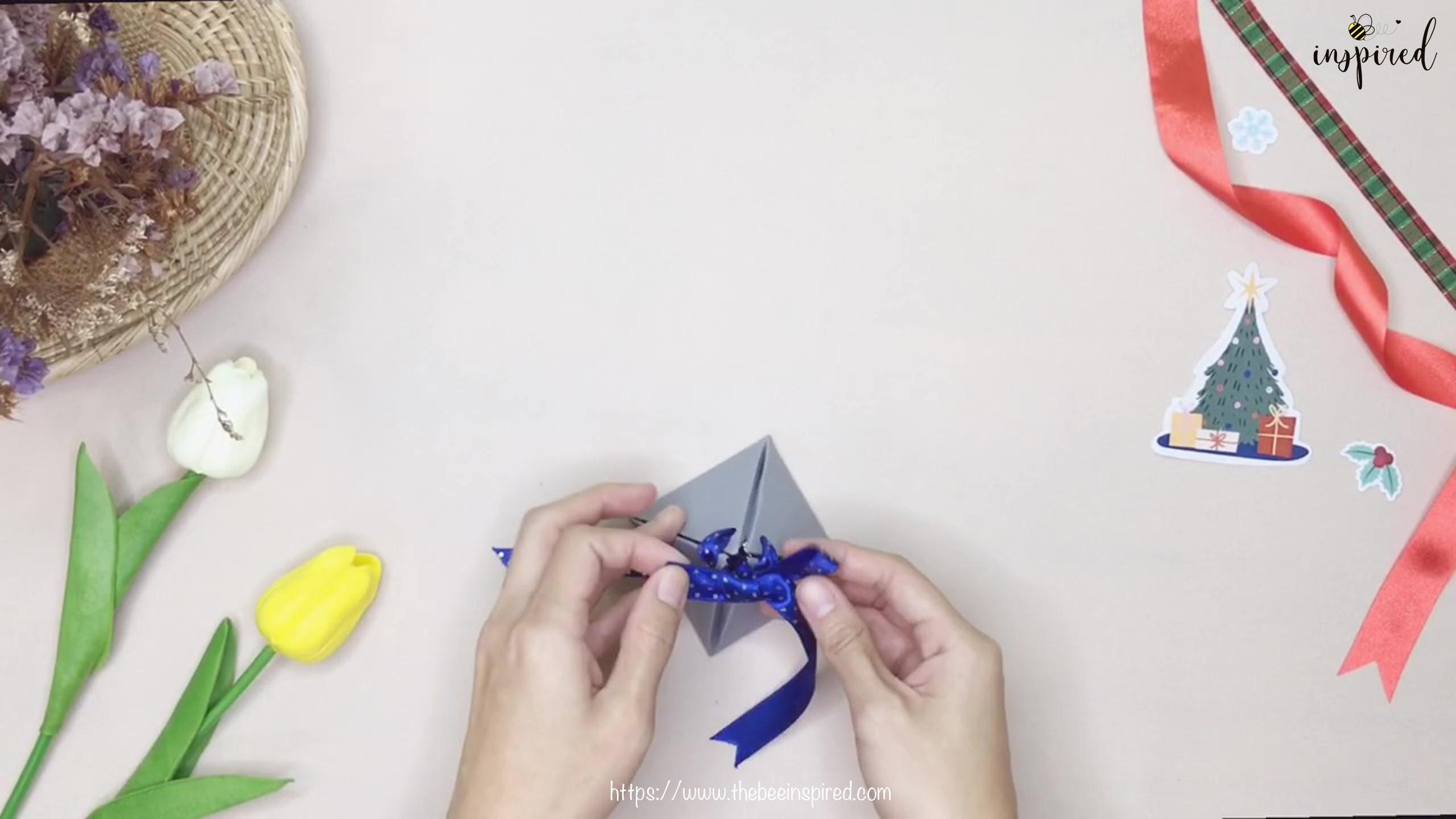 วิธีทำกล่องของขวัญวันวาเลนไทน์น่ารักๆ ทรงพีระมิดจากกระดาษแผ่นเดียว+ไม่ใช้กาว_ DIY pyramid gift box_14