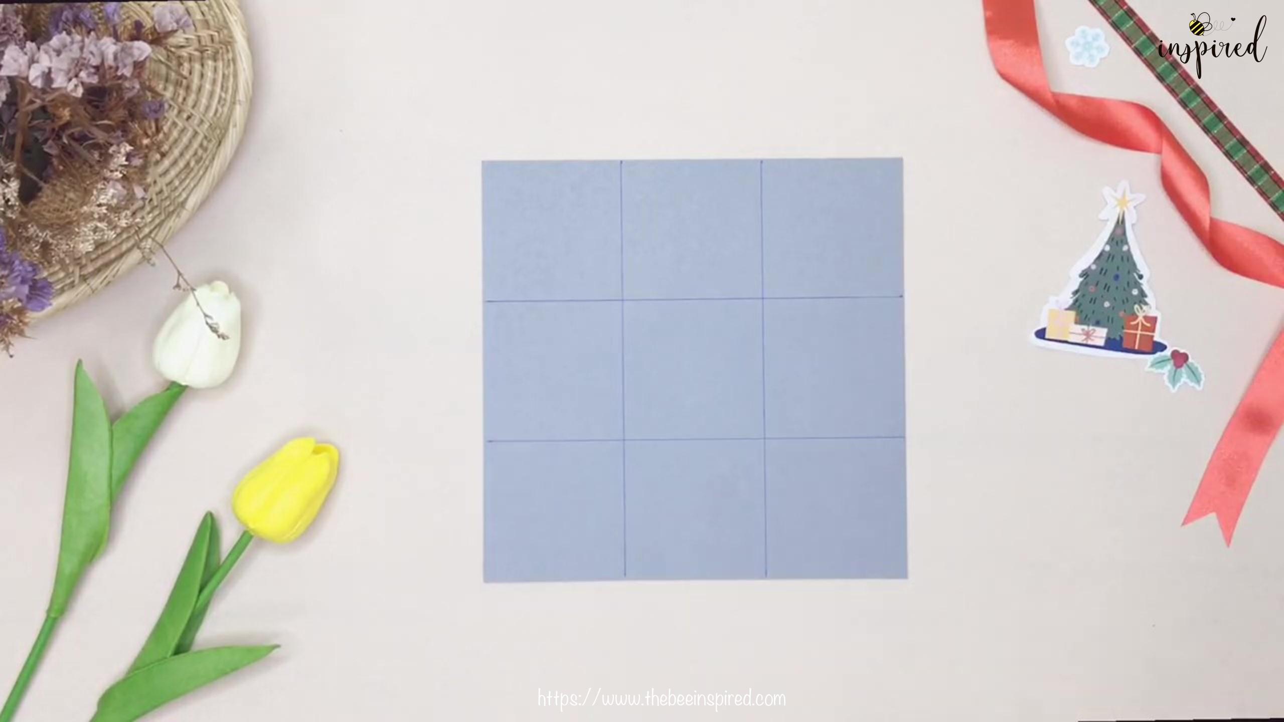 วิธีทำกล่องของขวัญวันวาเลนไทน์น่ารักๆ ทรงพีระมิดจากกระดาษแผ่นเดียว+ไม่ใช้กาว_ DIY pyramid gift box_2