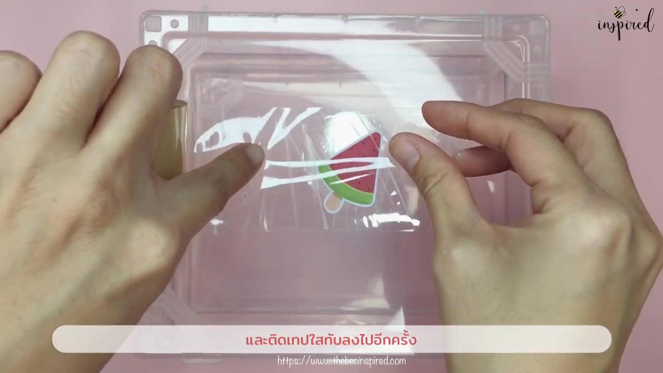 วิธีทำสติ๊กเกอร์ง่ายๆ ด้วยสก็อตเทปใส_ (Easy DIY) How to Make Sticker from Clear Packaging Tape_4
