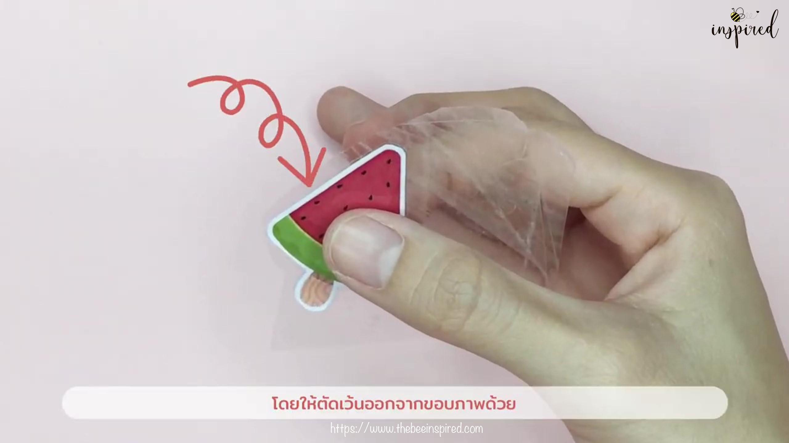 วิธีทำสติ๊กเกอร์ง่ายๆ ด้วยสก็อตเทปใส_ (Easy DIY) How to Make Sticker from Clear Packaging Tape_7