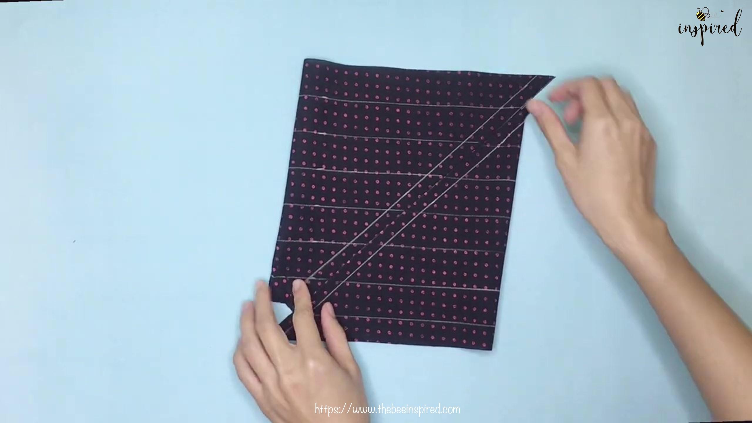 เทคนิคตัดและต่อผ้าเฉลียงที่ไม่ดูไม่ได้_ What is Fabric Grain & How to Make Continuous Bias Binding_10