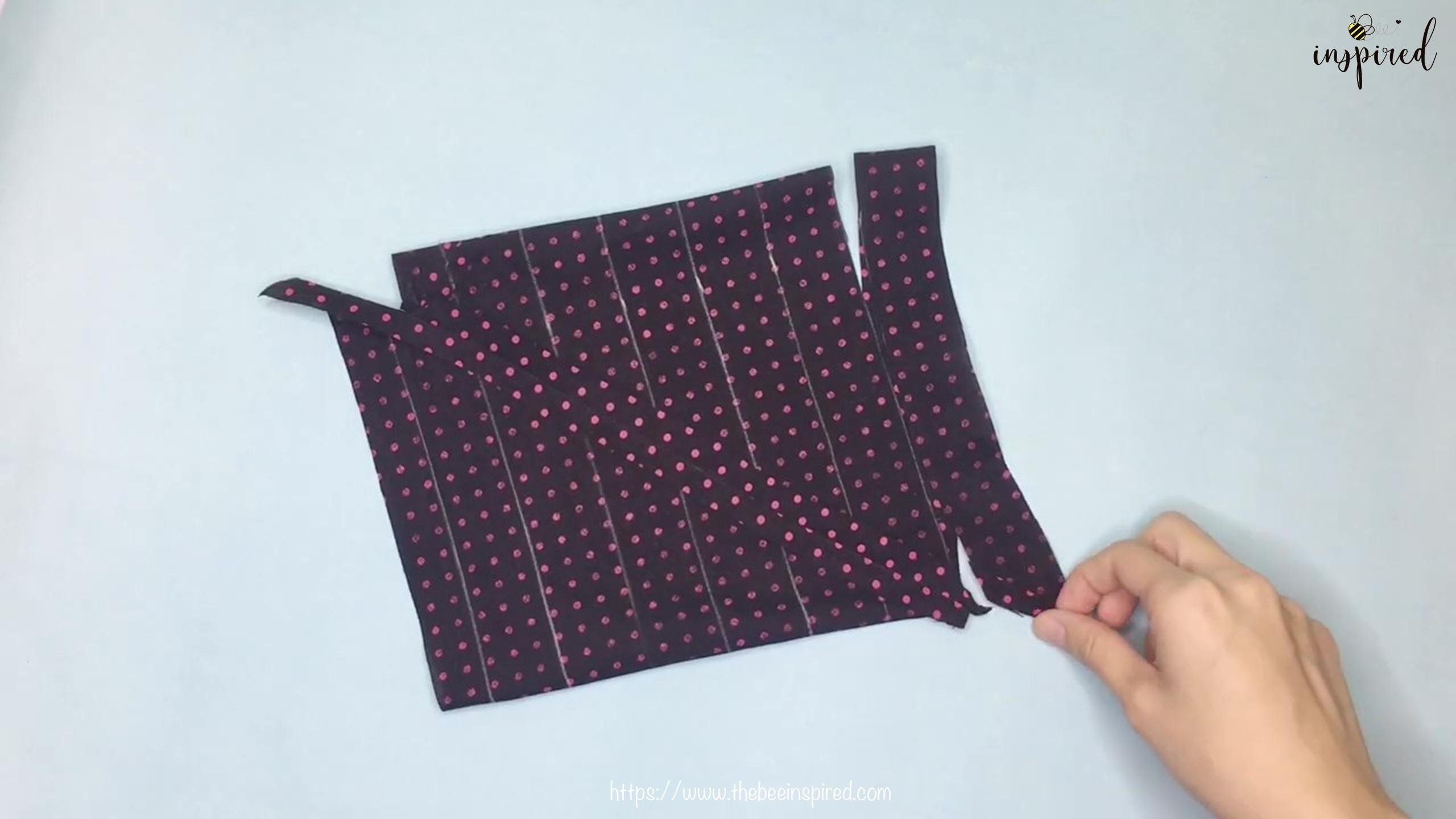 เทคนิคตัดและต่อผ้าเฉลียงที่ไม่ดูไม่ได้_ What is Fabric Grain & How to Make Continuous Bias Binding_13