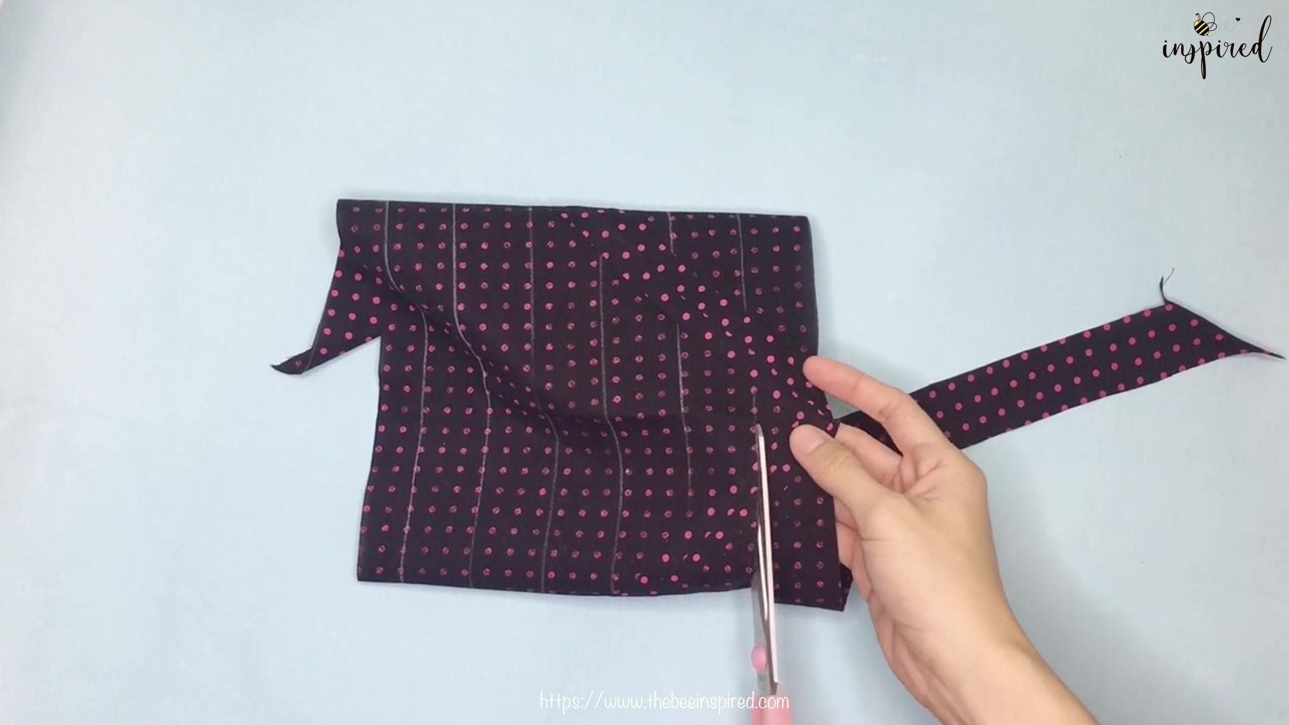 เทคนิคตัดและต่อผ้าเฉลียงที่ไม่ดูไม่ได้_ What is Fabric Grain & How to Make Continuous Bias Binding_14