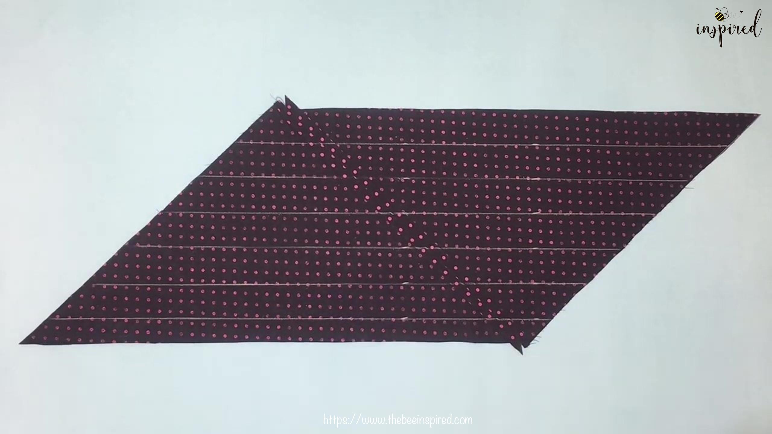 เทคนิคตัดและต่อผ้าเฉลียงที่ไม่ดูไม่ได้_ What is Fabric Grain & How to Make Continuous Bias Binding_7