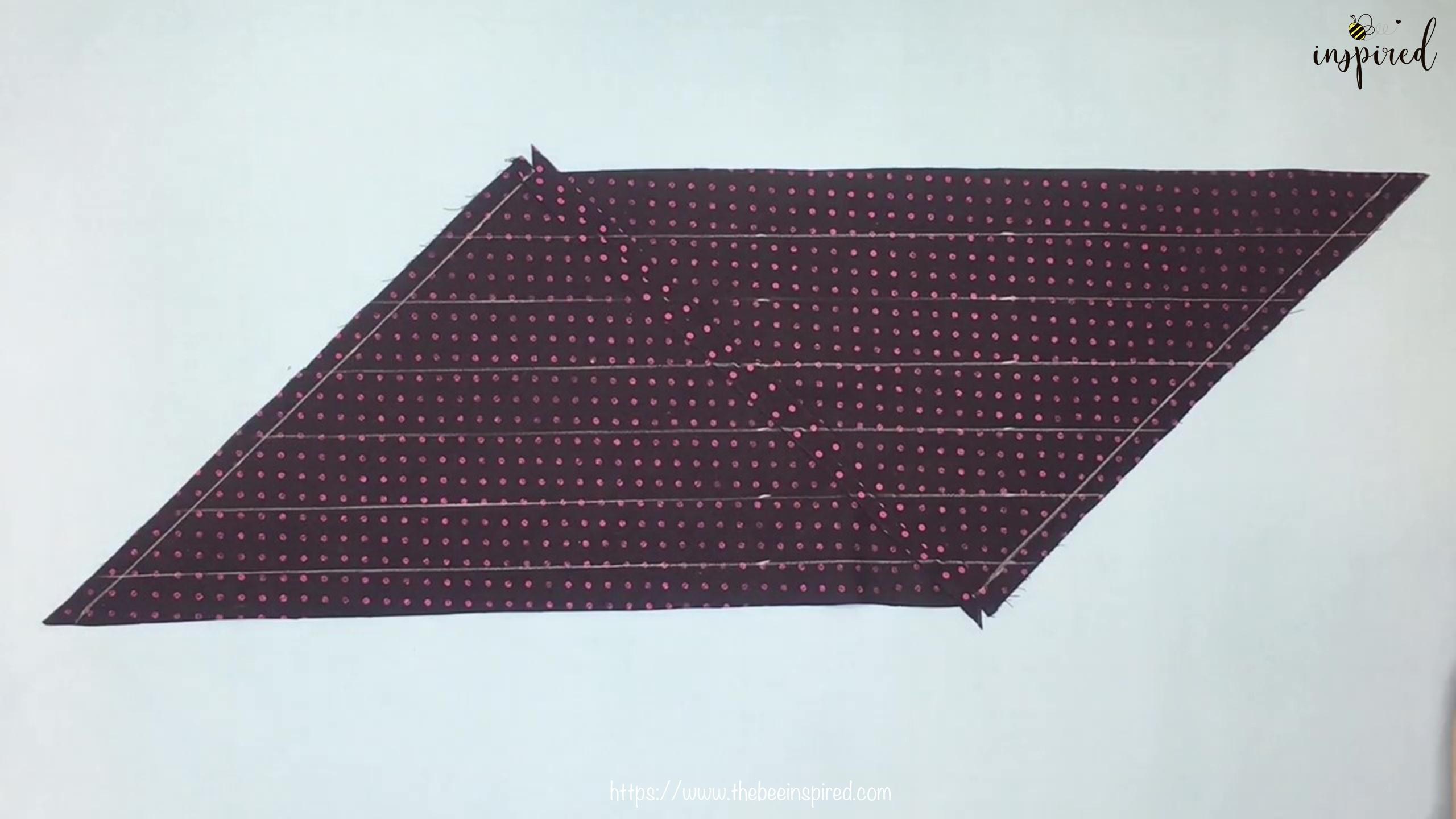 เทคนิคตัดและต่อผ้าเฉลียงที่ไม่ดูไม่ได้_ What is Fabric Grain & How to Make Continuous Bias Binding_8