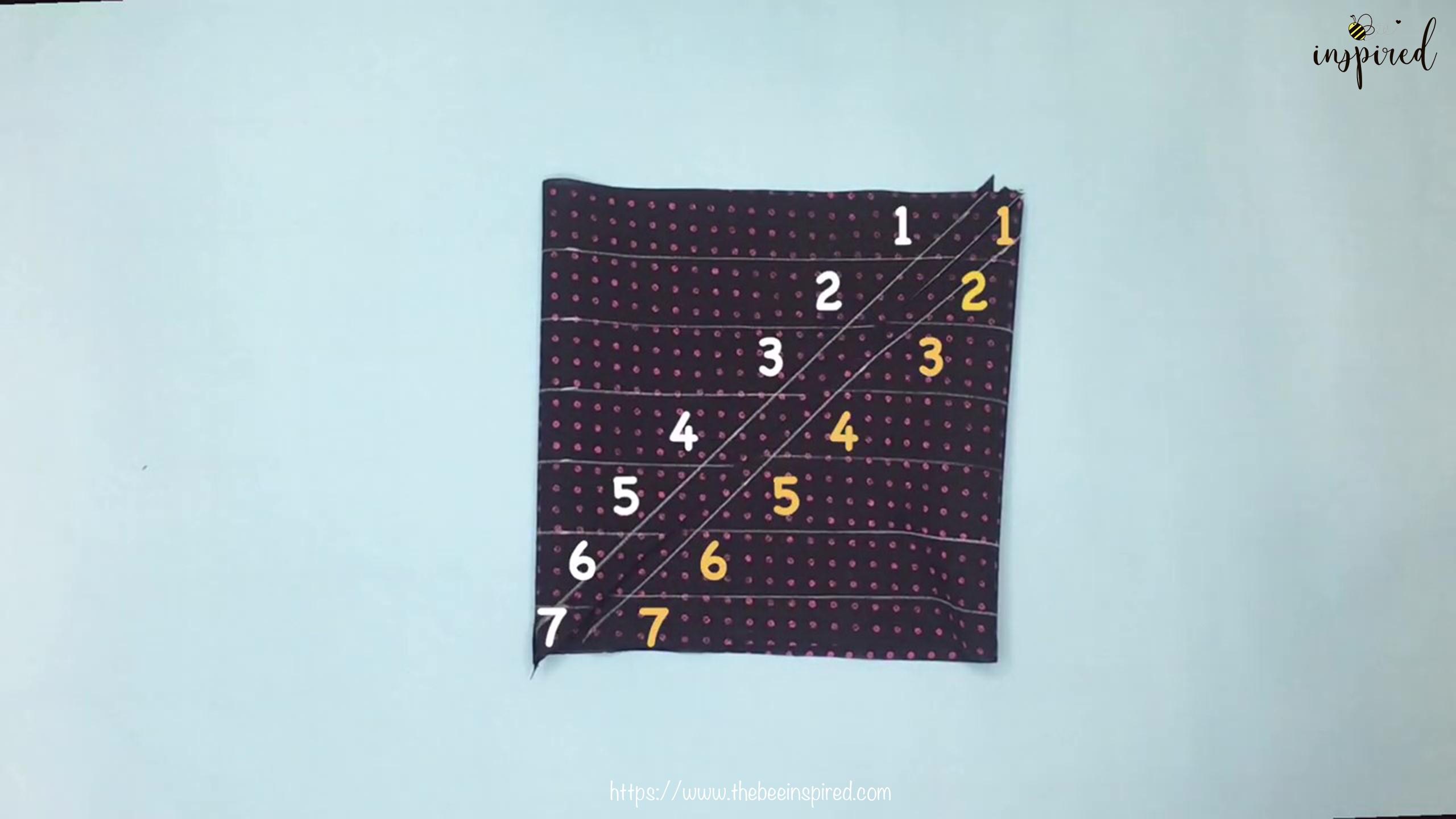 เทคนิคตัดและต่อผ้าเฉลียงที่ไม่ดูไม่ได้_ What is Fabric Grain & How to Make Continuous Bias Binding_9