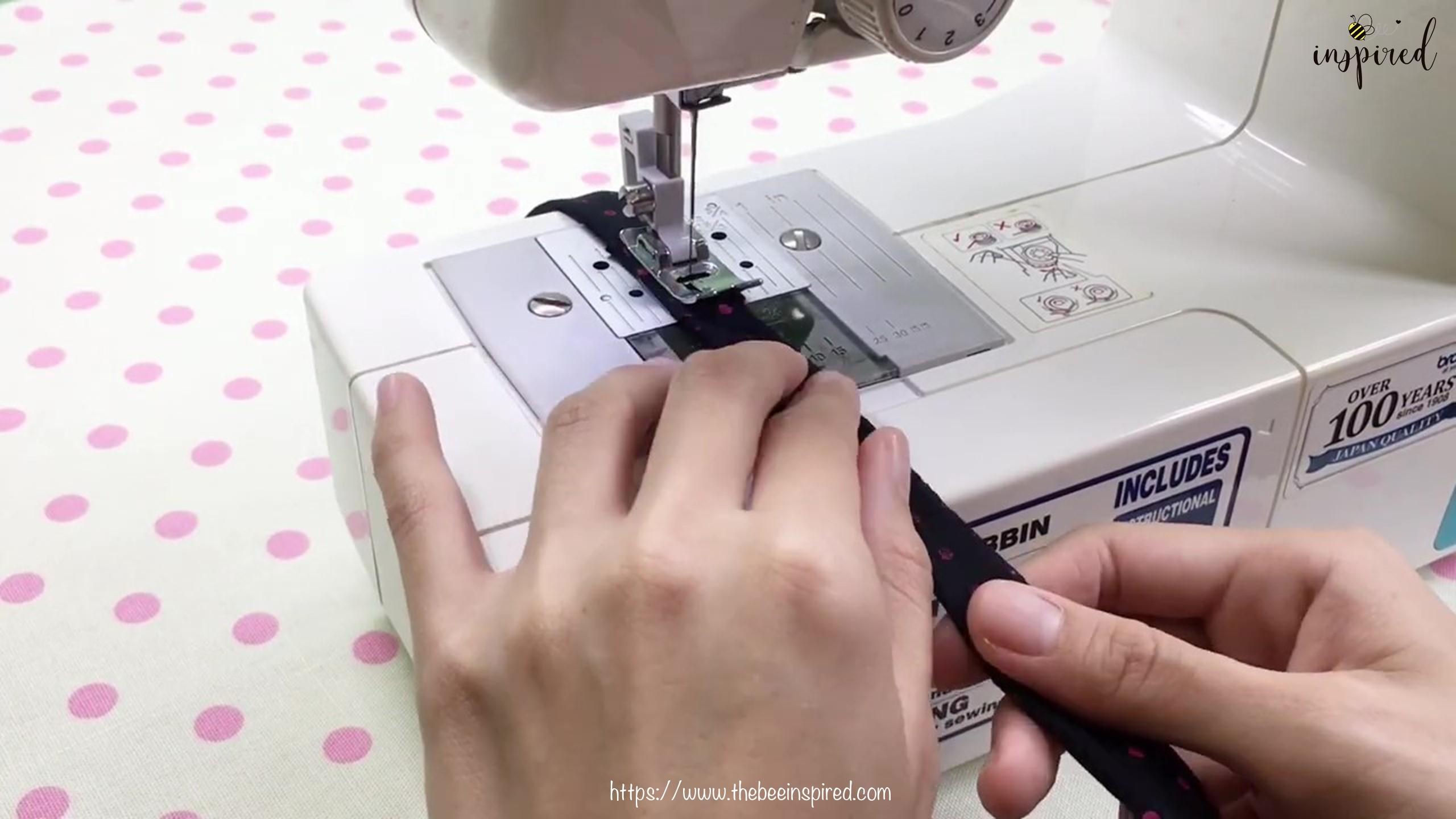 DIY สายคล้องแมสด้วยผ้าราคา 0 บาท _ How to Make Fabric Mask Strap with zero budget!_2