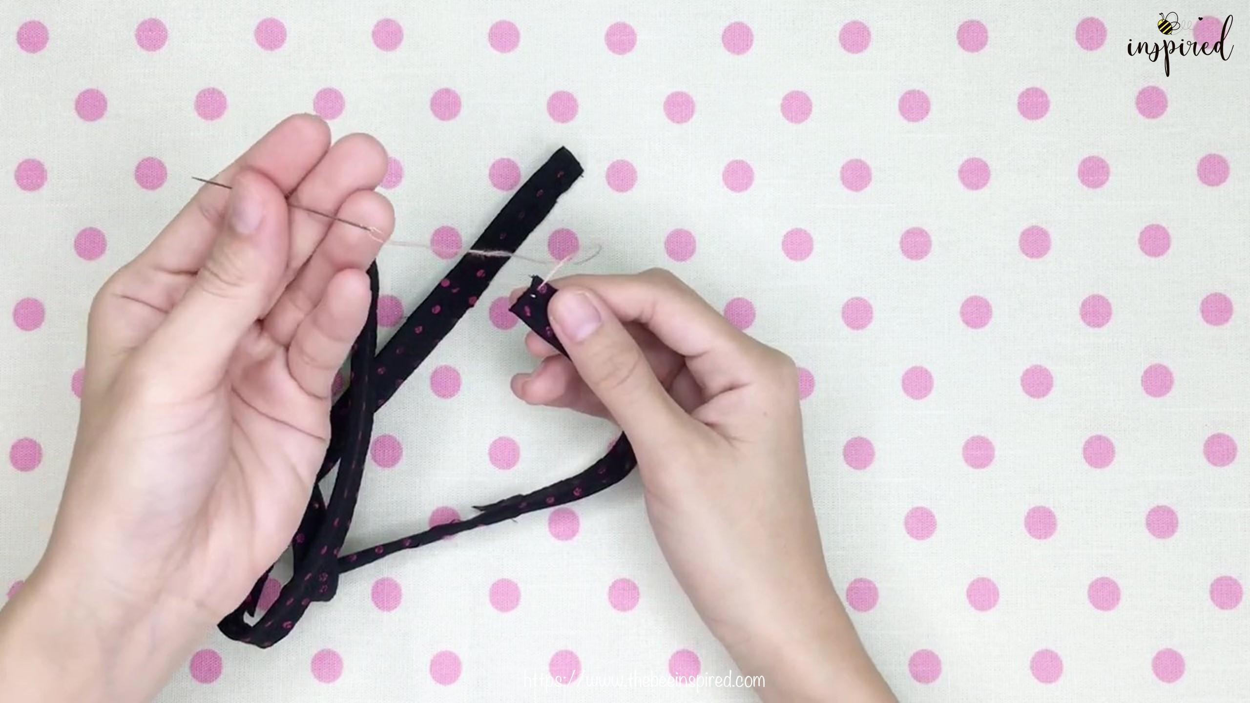DIY สายคล้องแมสด้วยผ้าราคา 0 บาท _ How to Make Fabric Mask Strap with zero budget!_3
