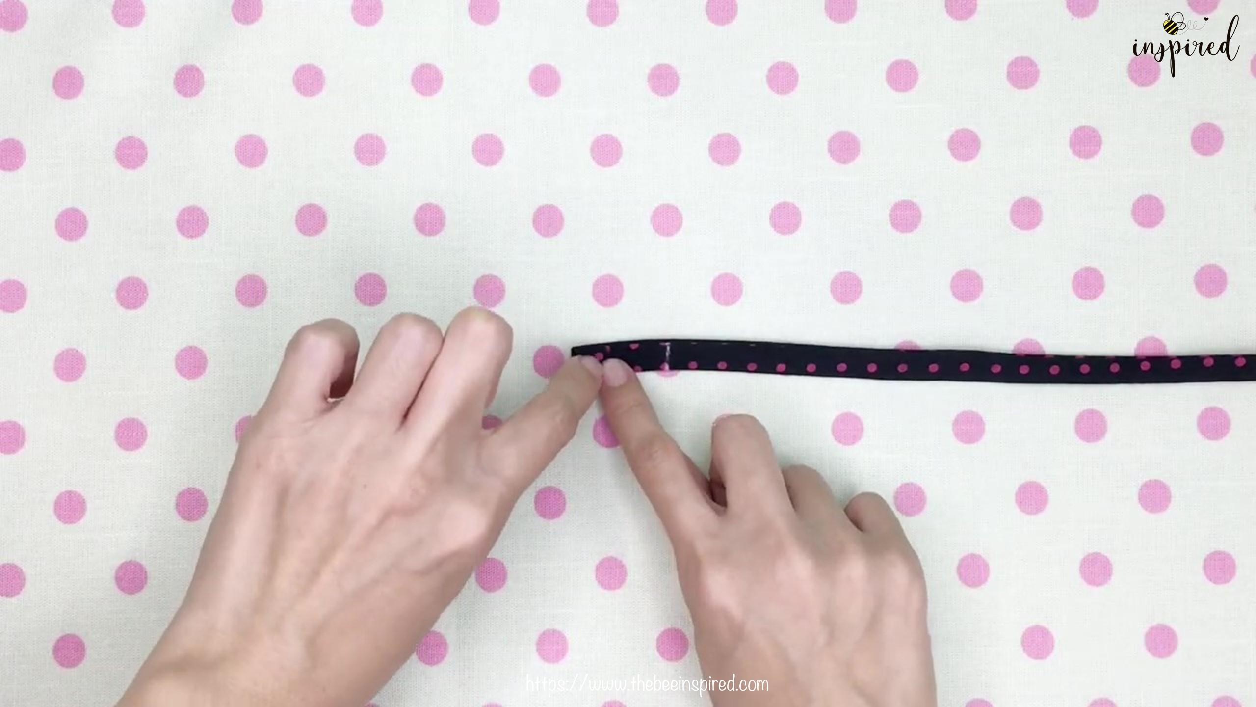 DIY สายคล้องแมสด้วยผ้าราคา 0 บาท _ How to Make Fabric Mask Strap with zero budget!_9
