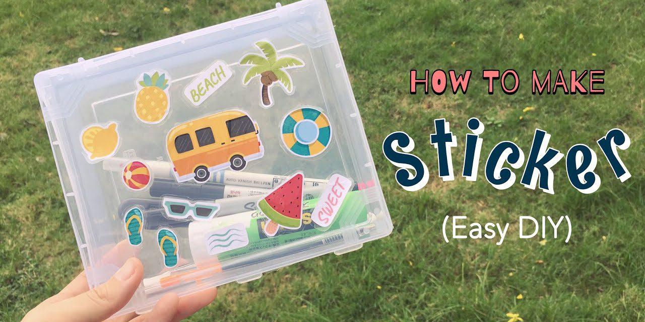 DIY Sticker From Clear Packaging Tape: วิธีทำสติ๊กเกอร์ง่ายๆ ด้วยสก็อตเทปใส