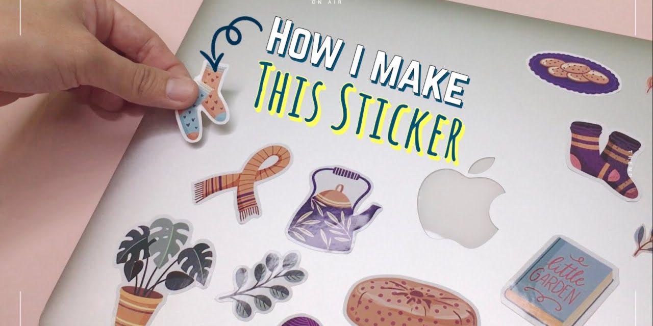 DIY Clear and Color Sticker: วิธีทำสติ๊กเกอร์ใสและสีเองง่ายๆ