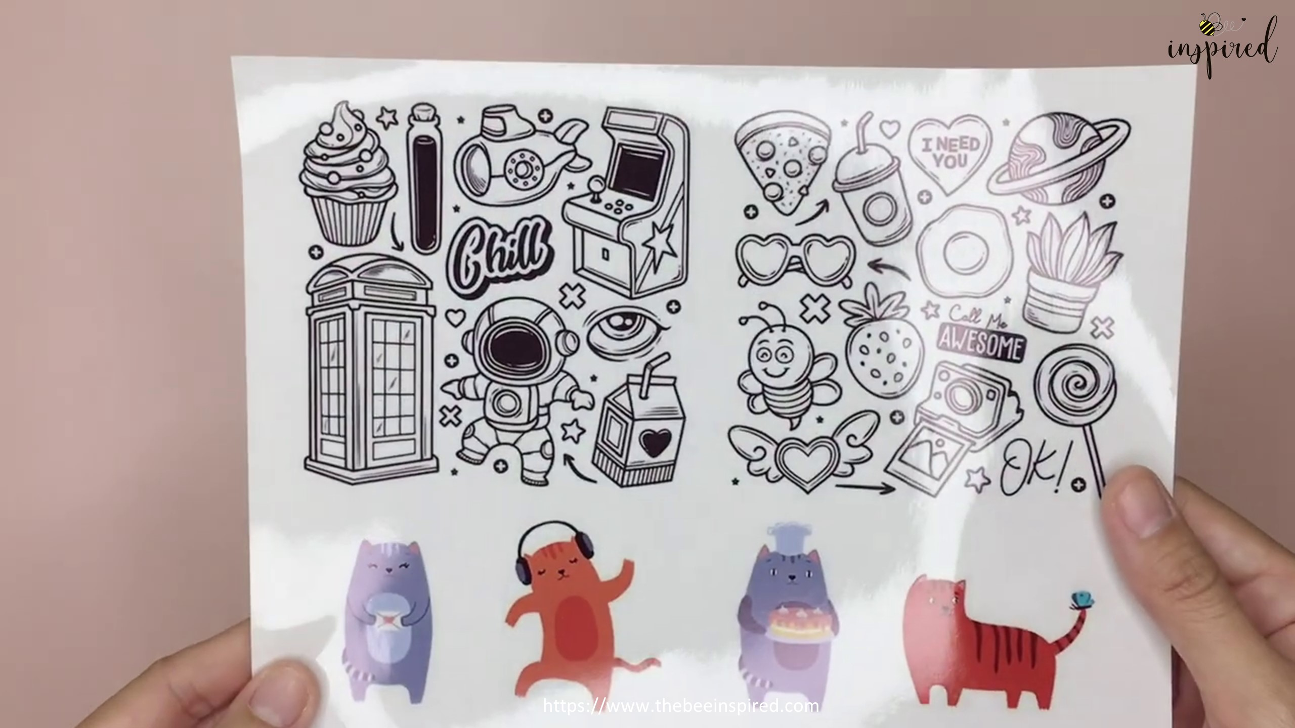 DIY Clear and Color Sticker_7