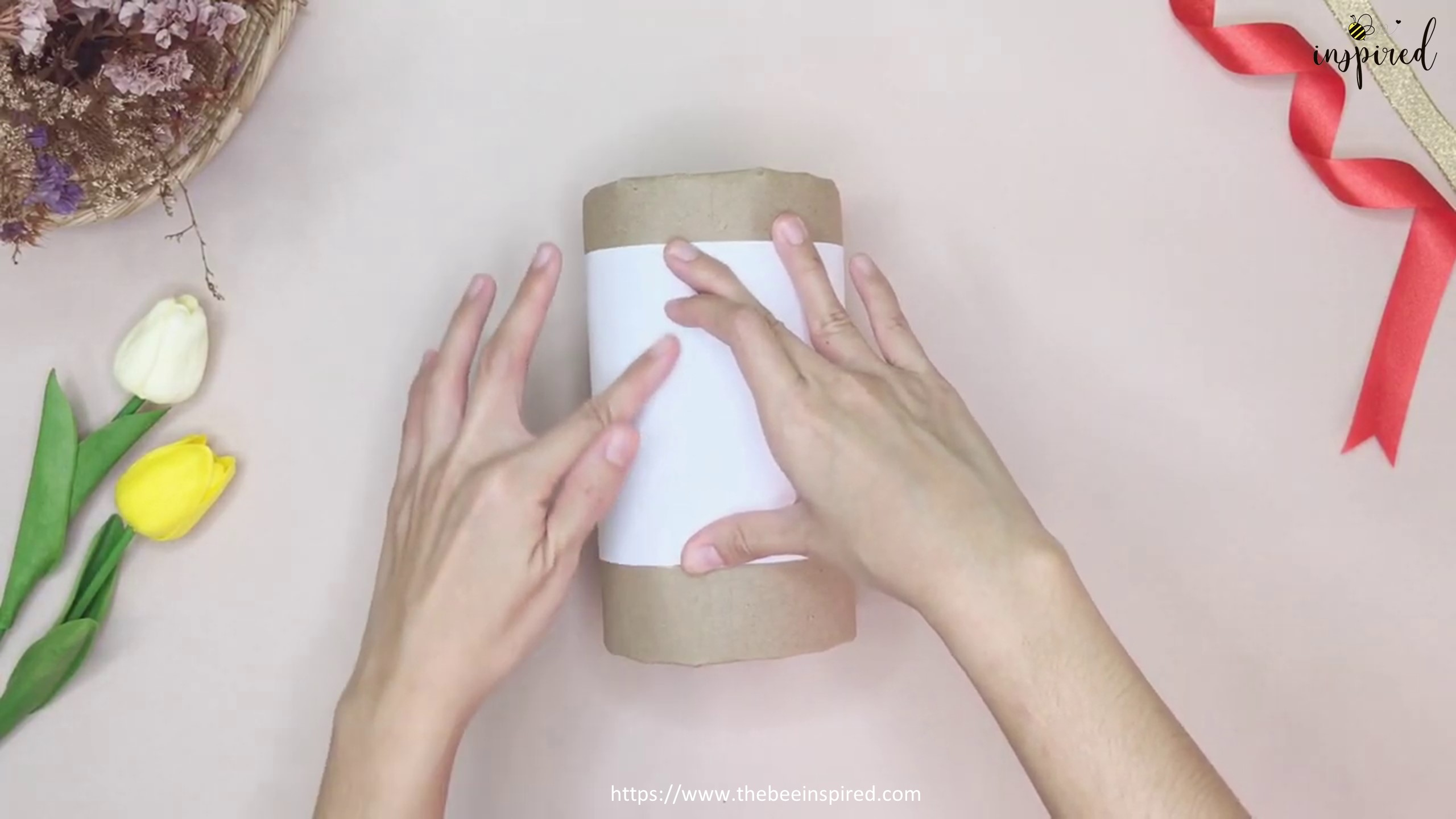 DIY Cylinder Gift Wrapping for Valentine_12