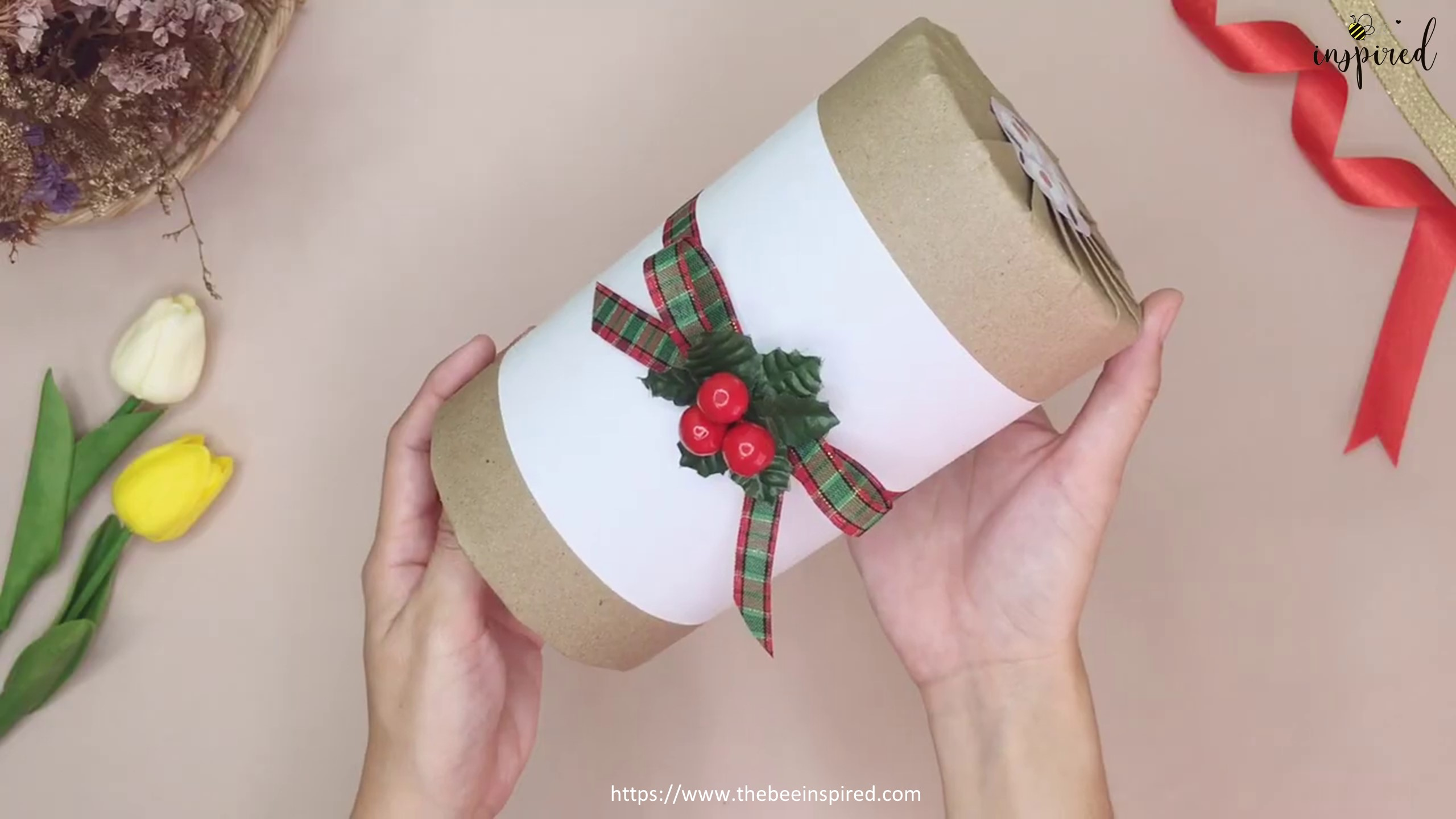 DIY Cylinder Gift Wrapping for Valentine_18