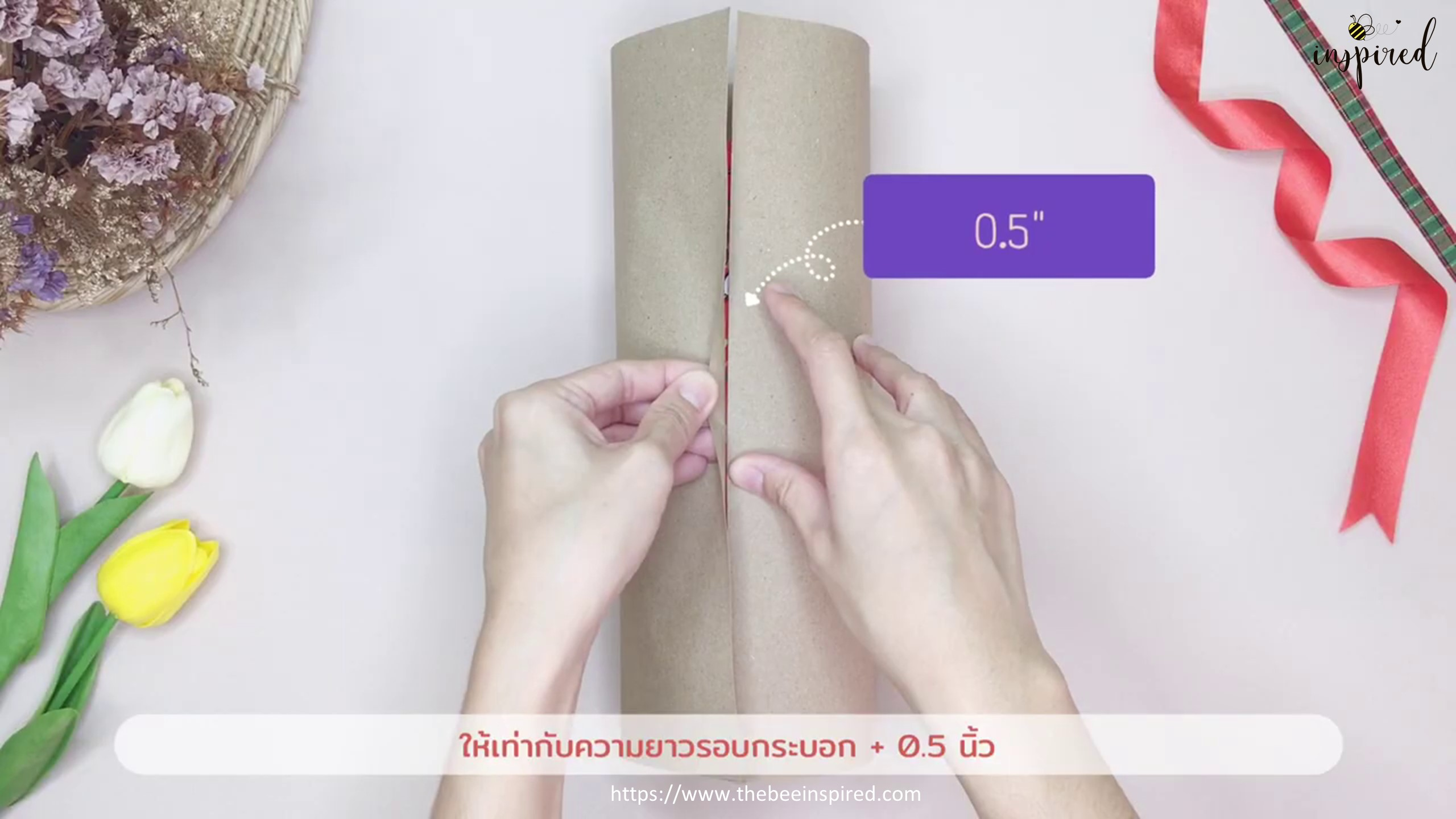 DIY Cylinder Gift Wrapping for Valentine_2