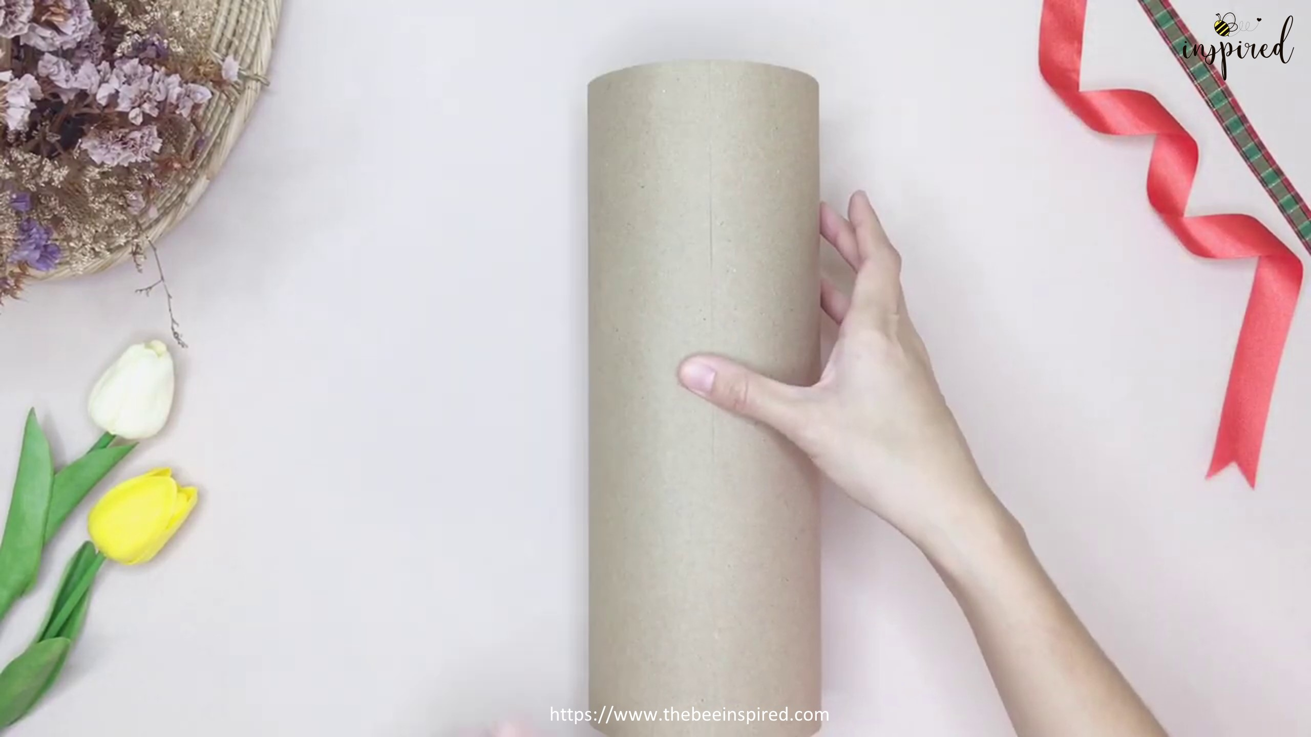 DIY Cylinder Gift Wrapping for Valentine_5