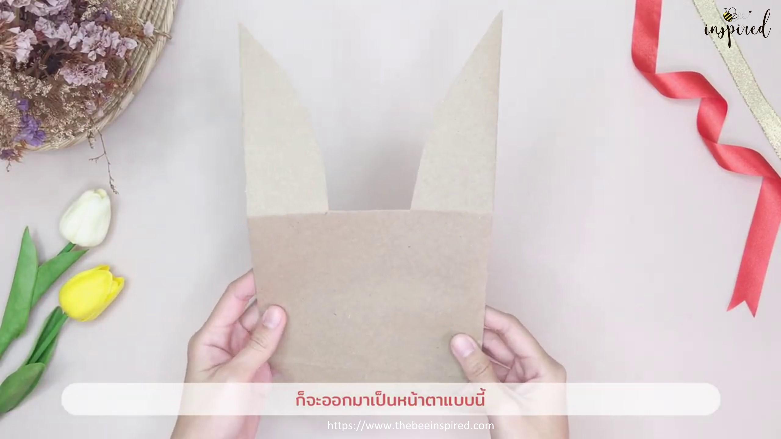 DIY Easter Bunny Rabbit Gift Paper Bag_16