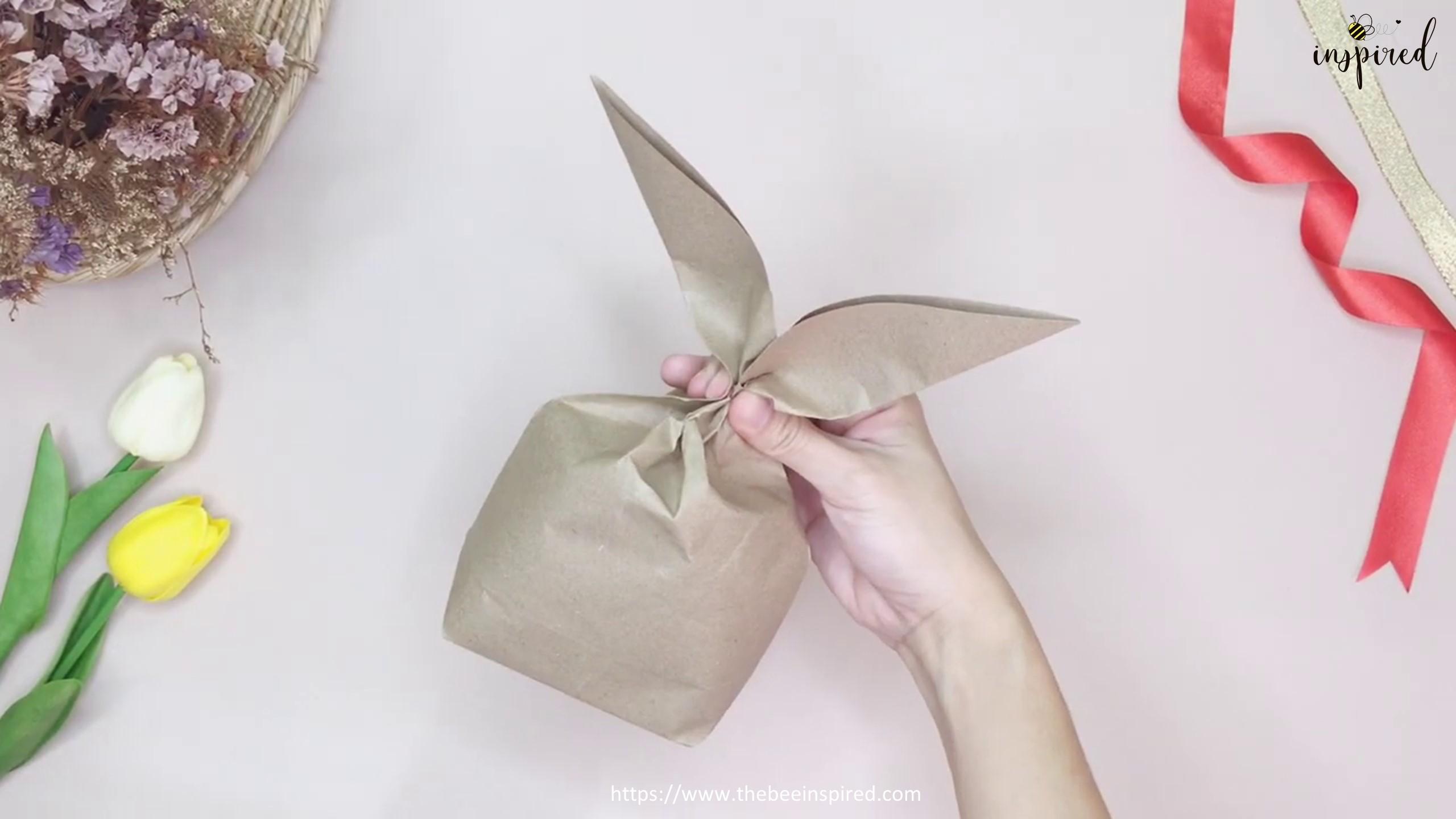 DIY Easter Bunny Rabbit Gift Paper Bag_18