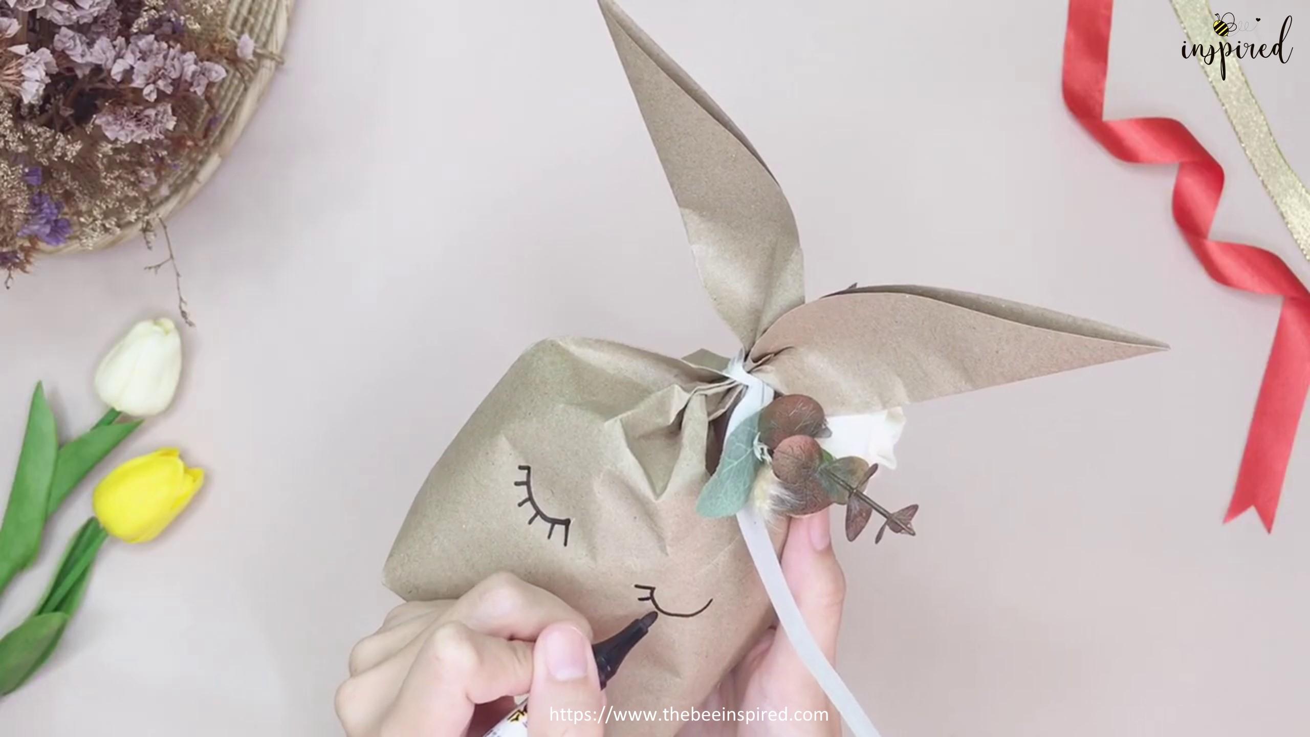 DIY Easter Bunny Rabbit Gift Paper Bag_22