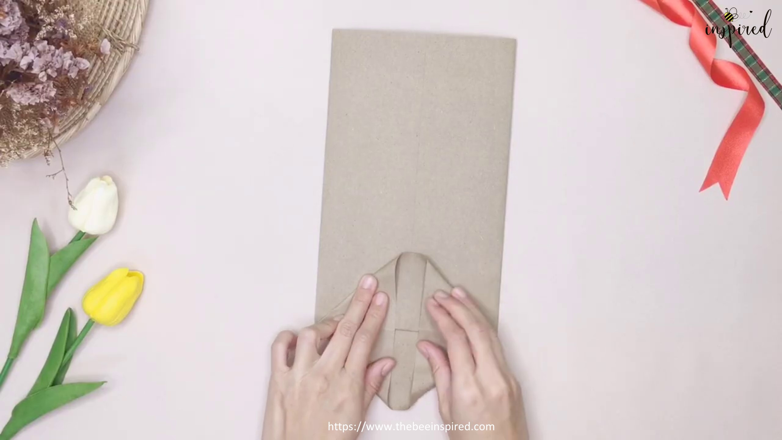 DIY Easter Bunny Rabbit Gift Paper Bag_6