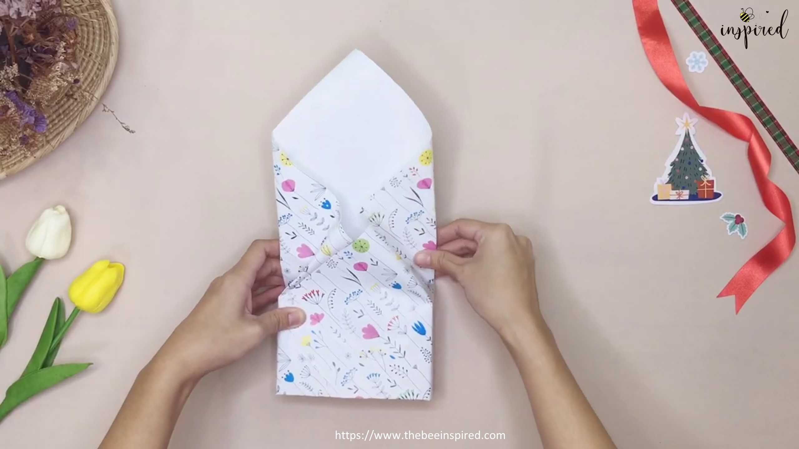 DIY Gift Wrapping for Valentine (No Tape)_10