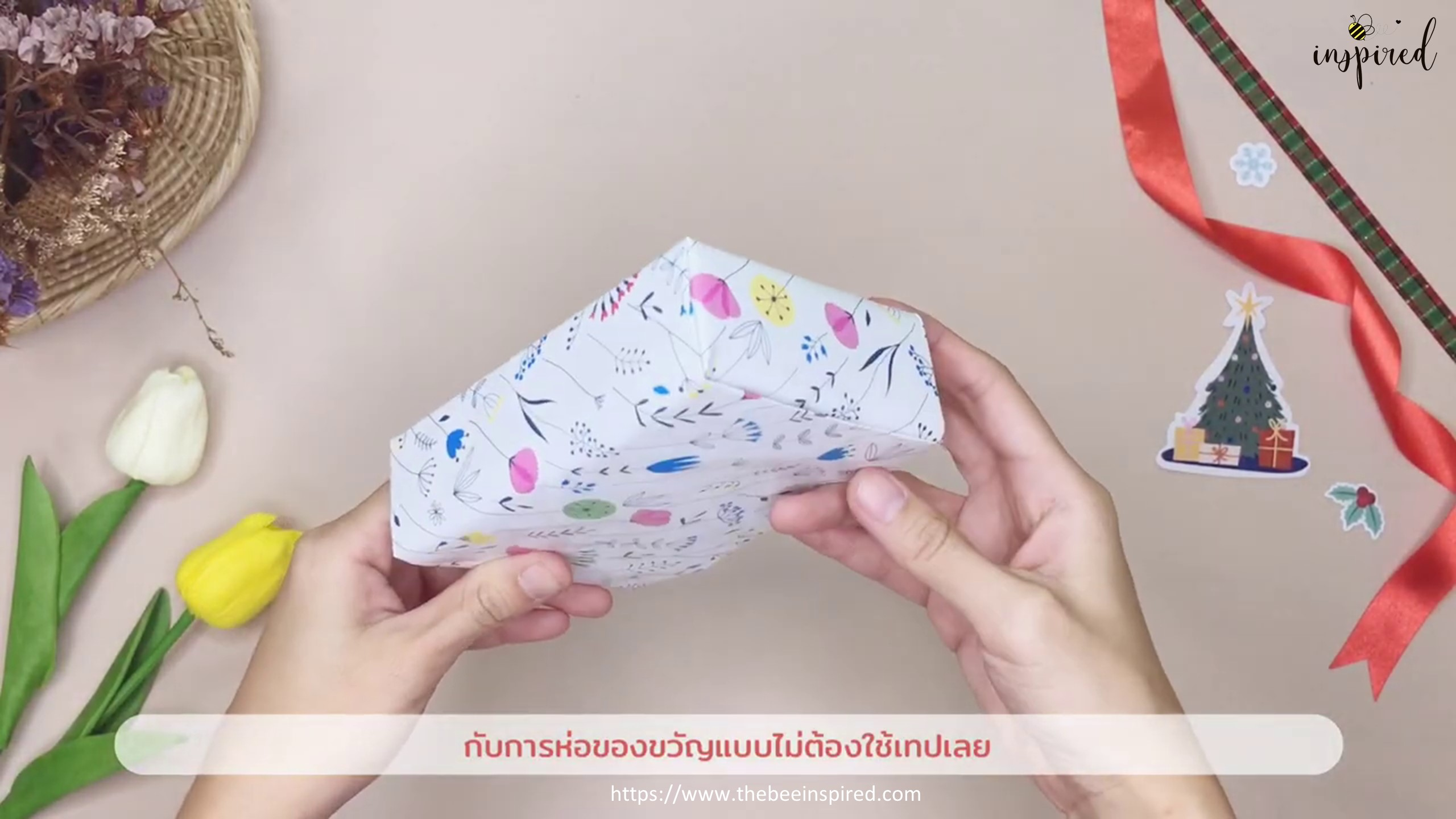 DIY Gift Wrapping for Valentine (No Tape)_19