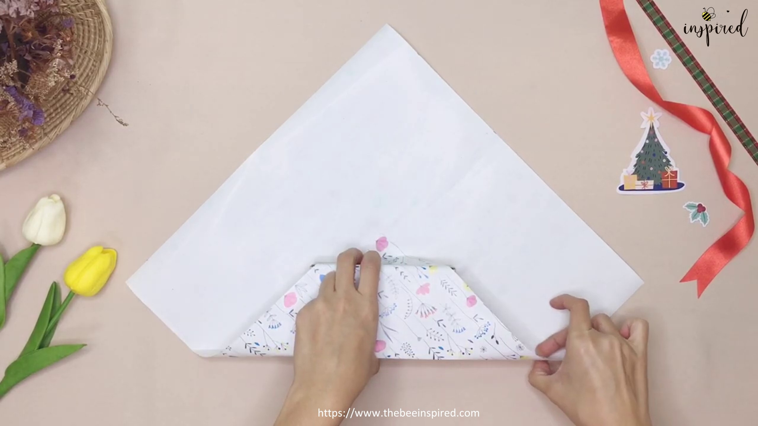 DIY Gift Wrapping for Valentine (No Tape)_5