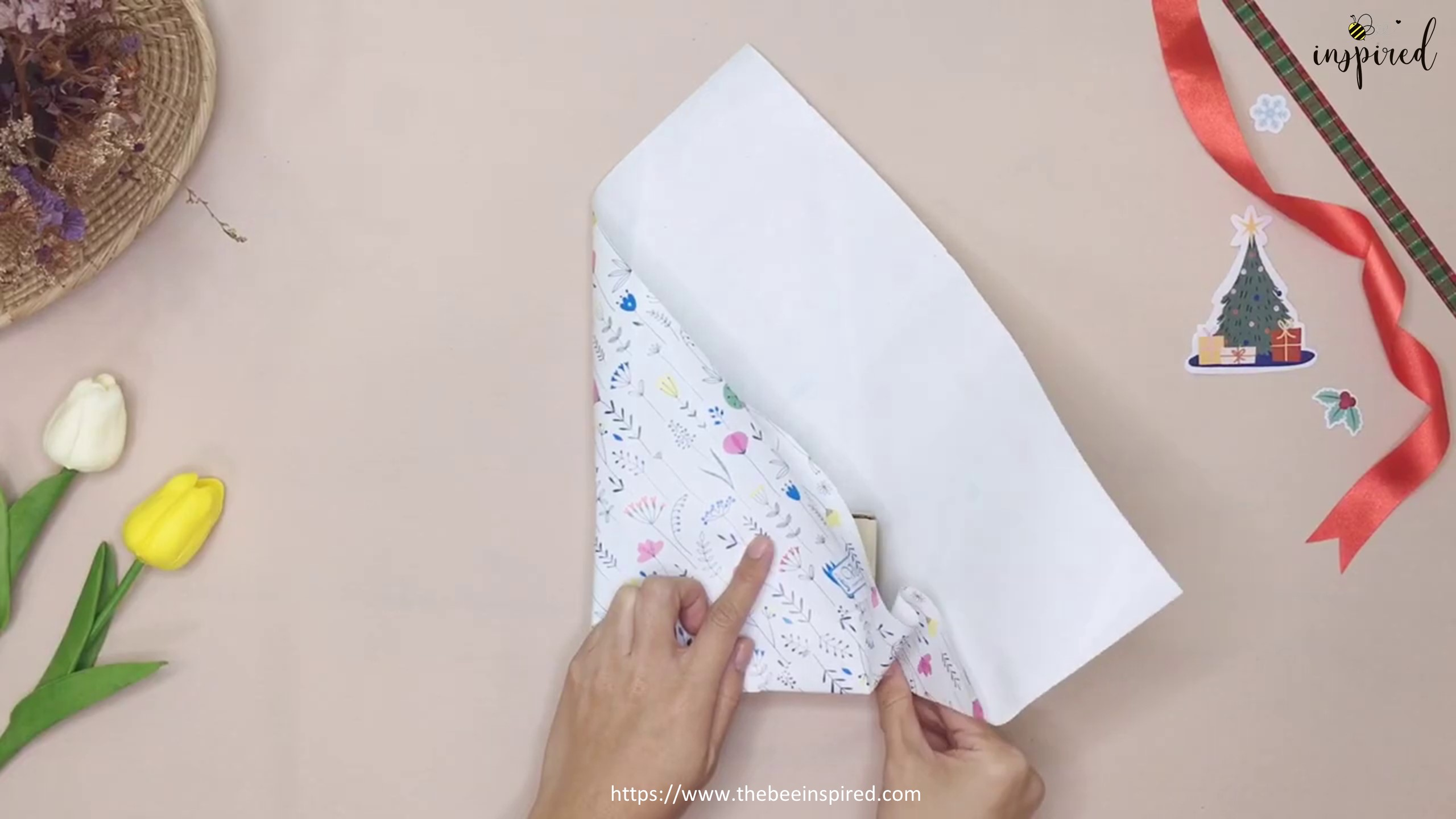 DIY Gift Wrapping for Valentine (No Tape)_7