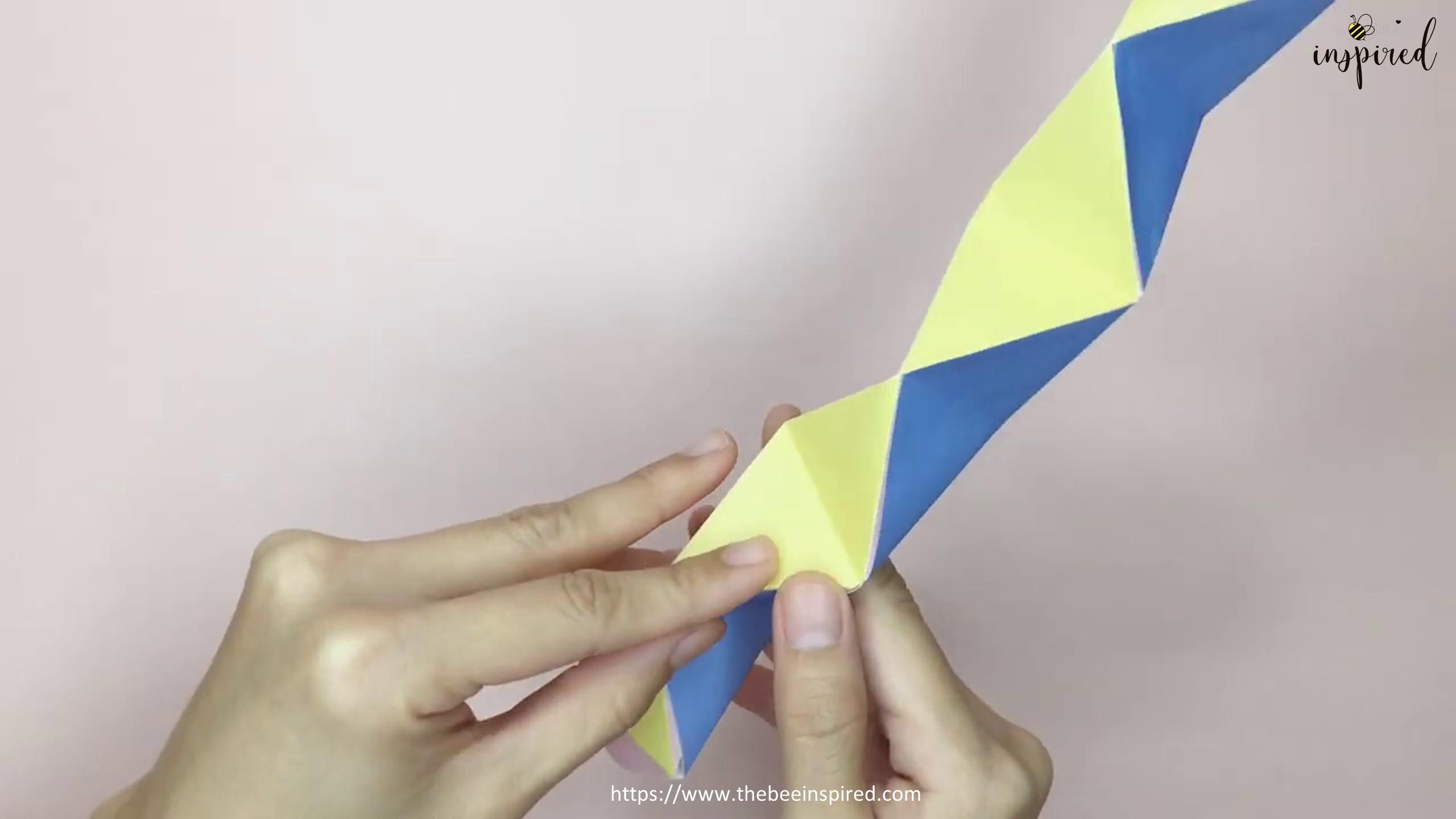 DIY Origami Moving Flexagon Fidget Paper Toy_10