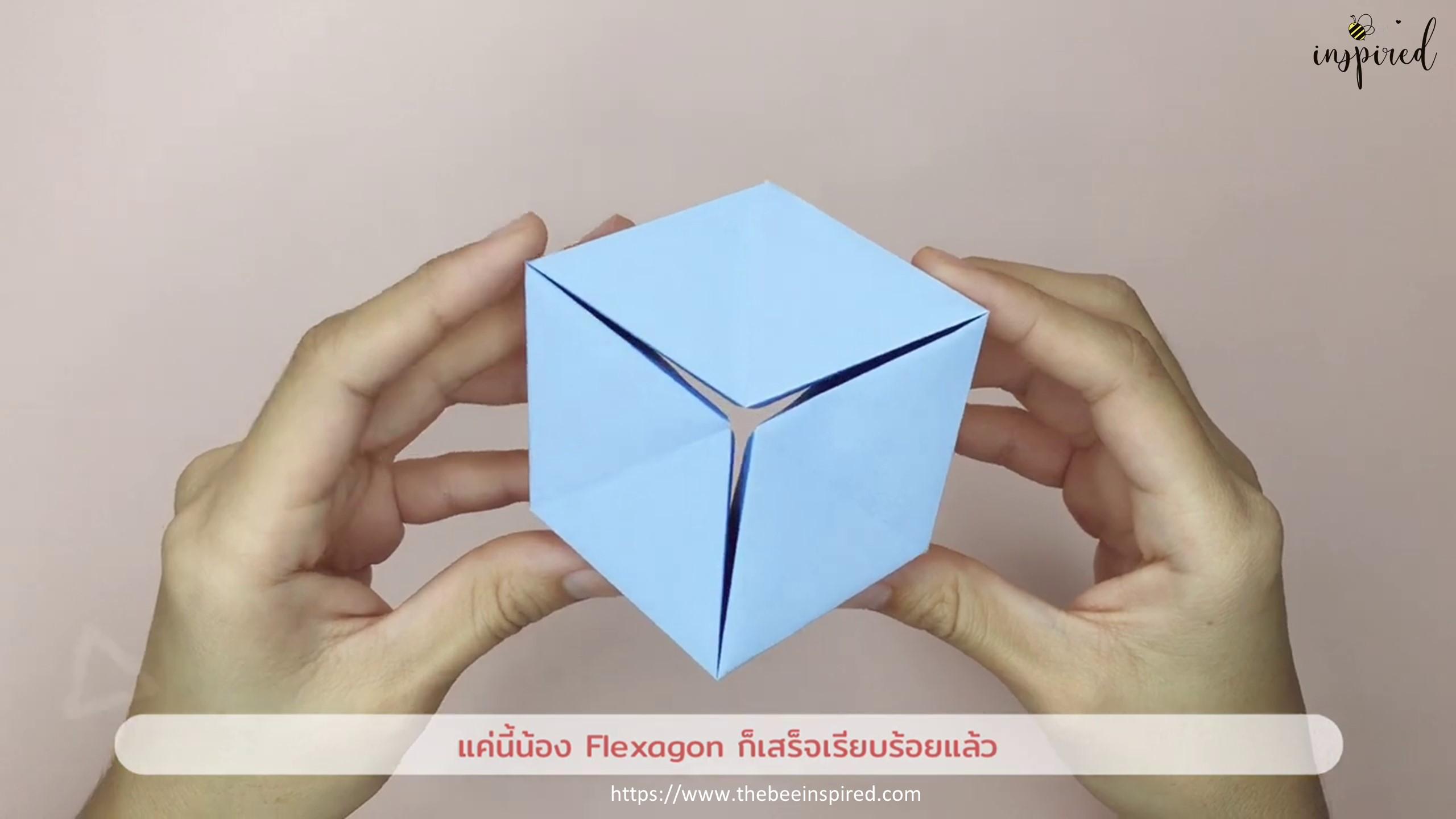 DIY Origami Moving Flexagon Fidget Paper Toy_12