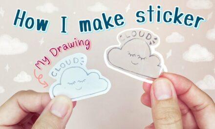 DIY Sticker from My Drawing: วิธีทำสติ๊กเกอร์ใสเองง่ายๆ จากรูปวาด (วาดรูปเอง)