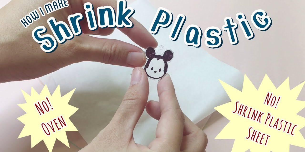 DIY Shrink Plastic Keychain: สอนทำพวงกุญแจพลาสติกหดจากของที่มีในบ้าน ไม่ใช้แผ่นพลาสติกหดและเตาอบ!