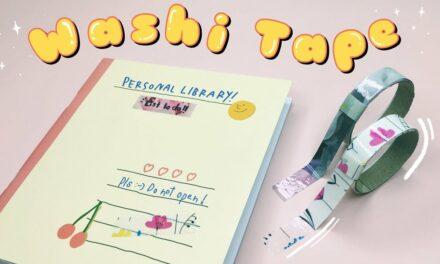 DIY WASHI TAPE OR MASKING TAPE: วิธีทำวาชิเทปเองง่ายๆ จากกระดาษห่อของขวัญ