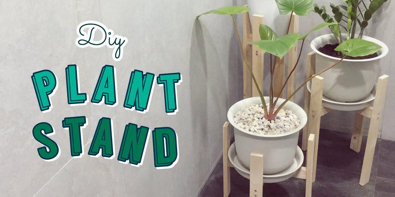DIY Wood Plant Stand: ทำขาตั้งกระถางต้นไม้ด้วยอุปกรณ์ที่มีอยู่ที่บ้าน
