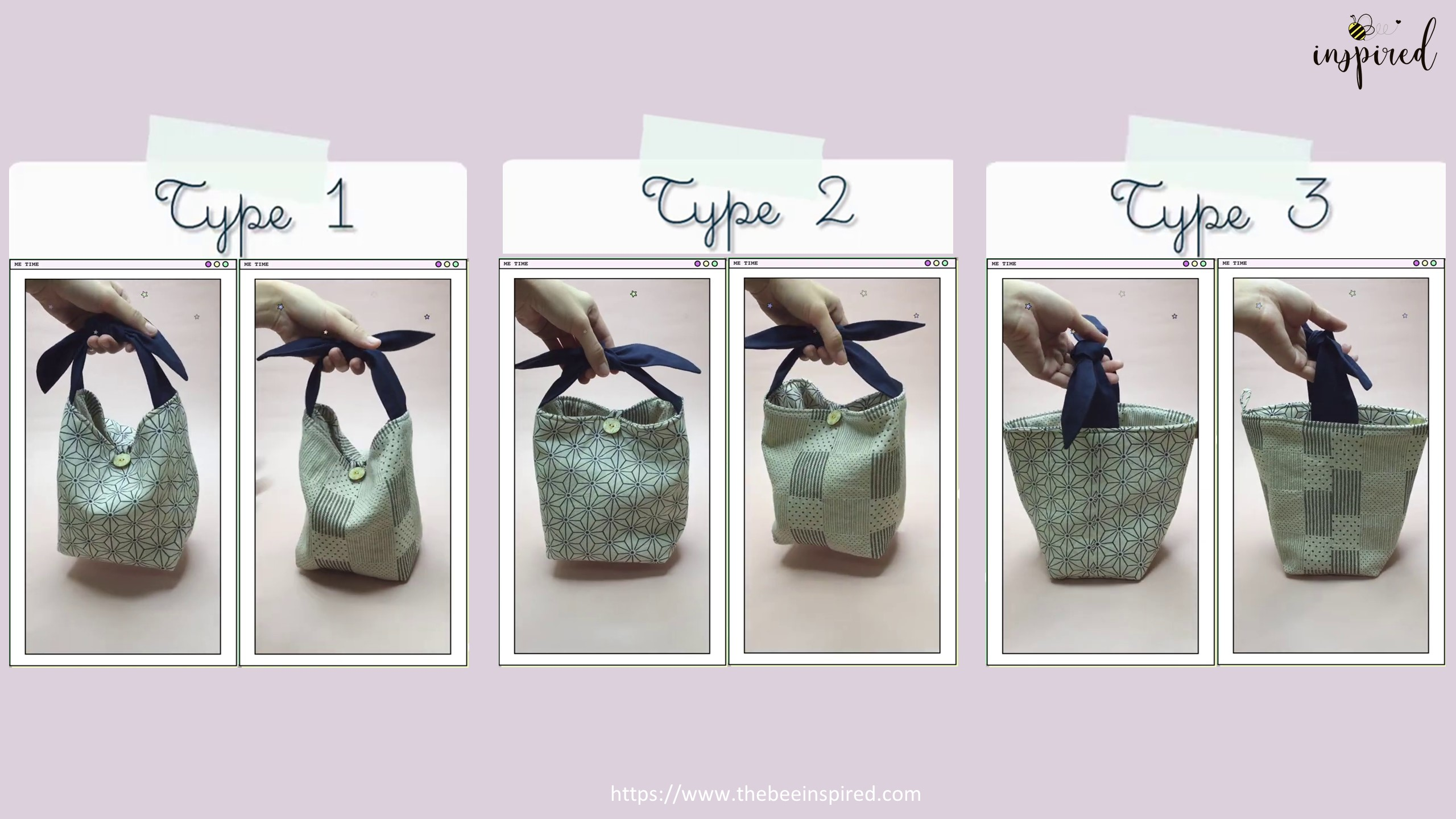 How to Sew Reversible Handbag 6 styles in 1 bags_71