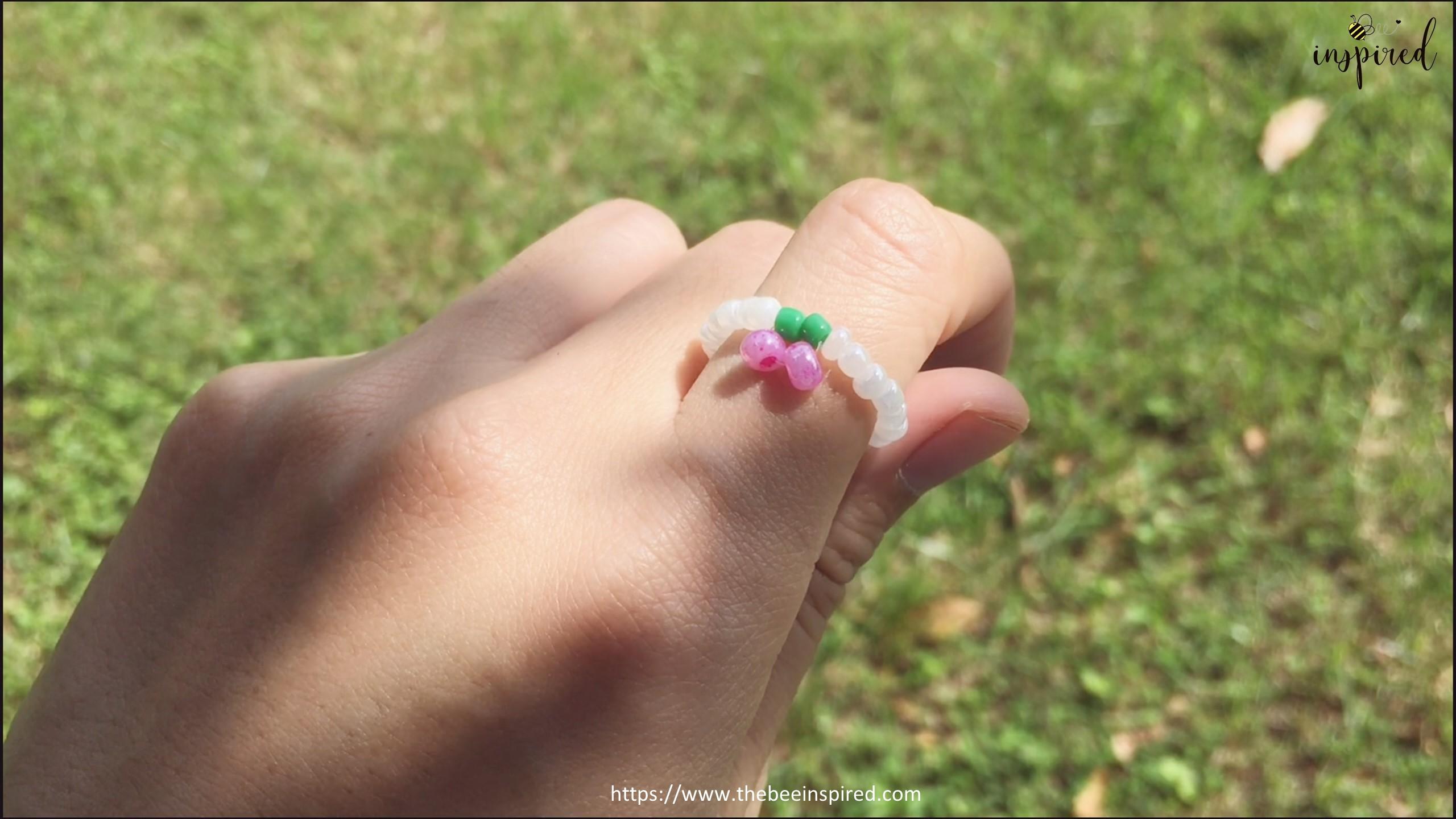 วิธีทำแหวนลูกปัดเชอร์รี่ง่ายๆ สไตล์เกาหลี - How to Make Cherry Beaded Ring_14