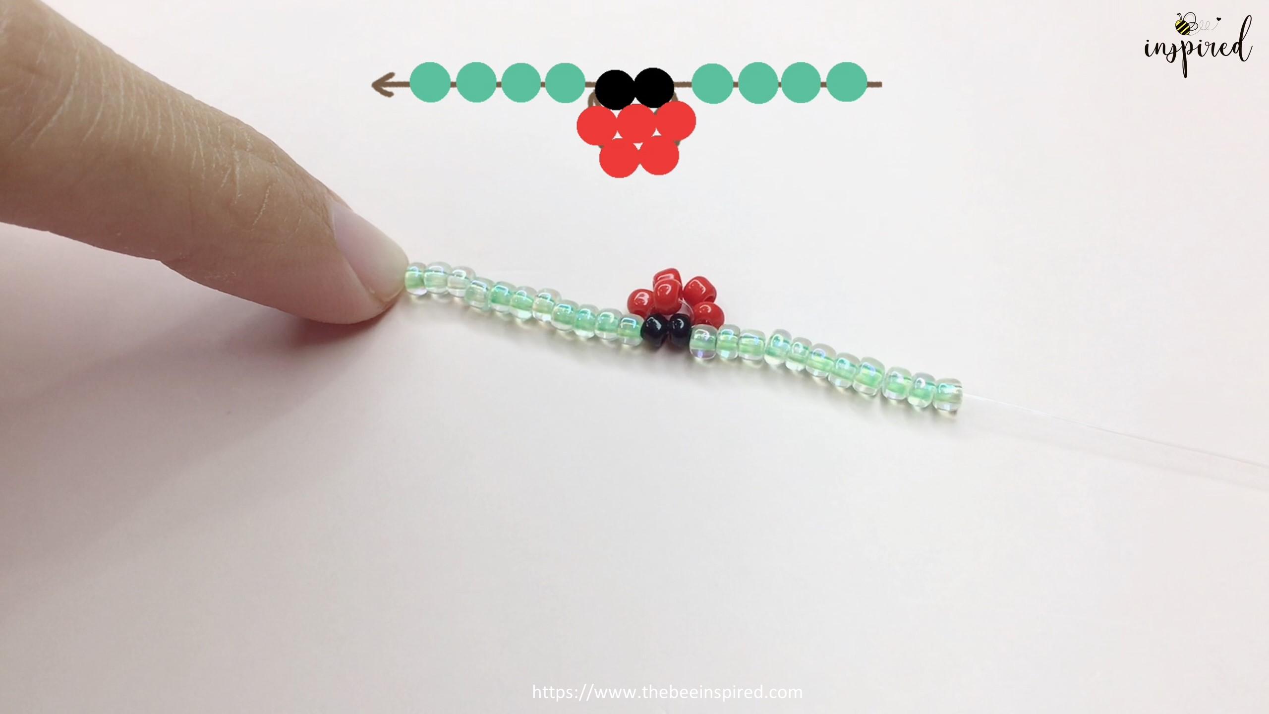 วิธีร้อยแหวนลูกปัดเต่าทอง ง่ายๆ สไตล์เกาหลี - How to Make Ladybug Beaded Ring_10