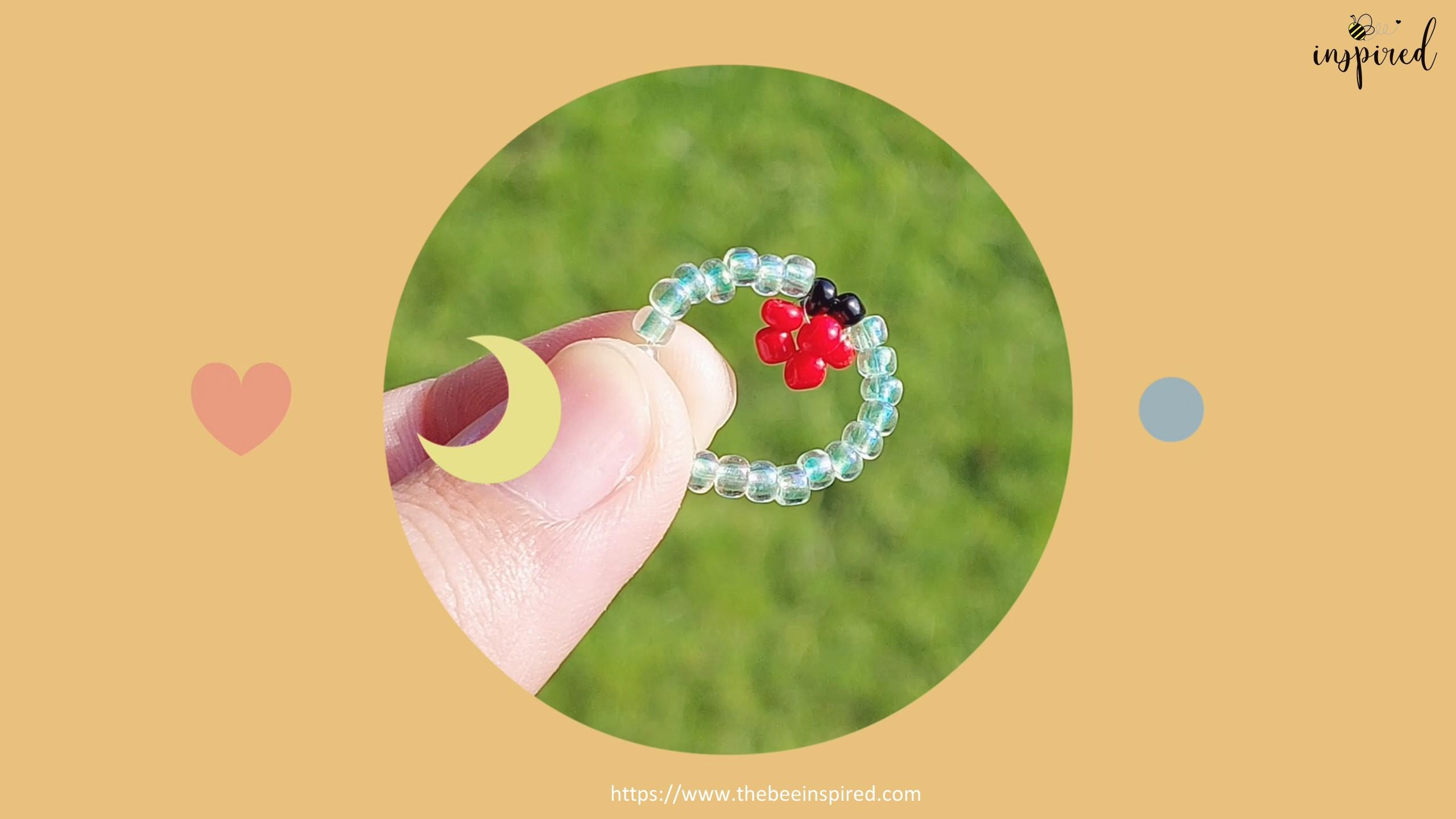 วิธีร้อยแหวนลูกปัดเต่าทอง ง่ายๆ สไตล์เกาหลี - How to Make Ladybug Beaded Ring_18