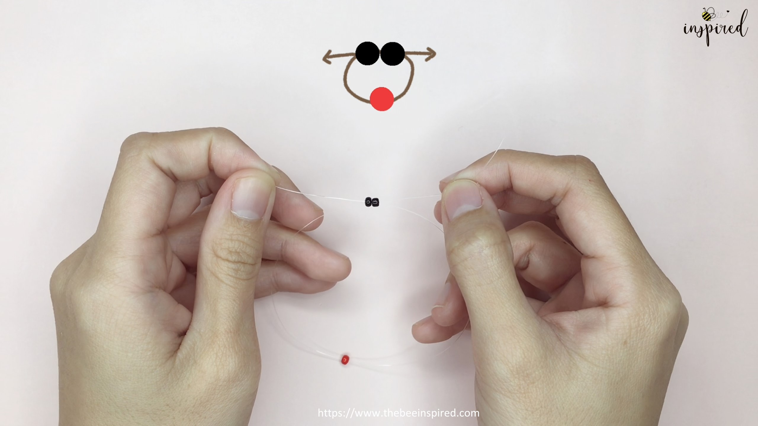 วิธีร้อยแหวนลูกปัดเต่าทอง ง่ายๆ สไตล์เกาหลี - How to Make Ladybug Beaded Ring_4
