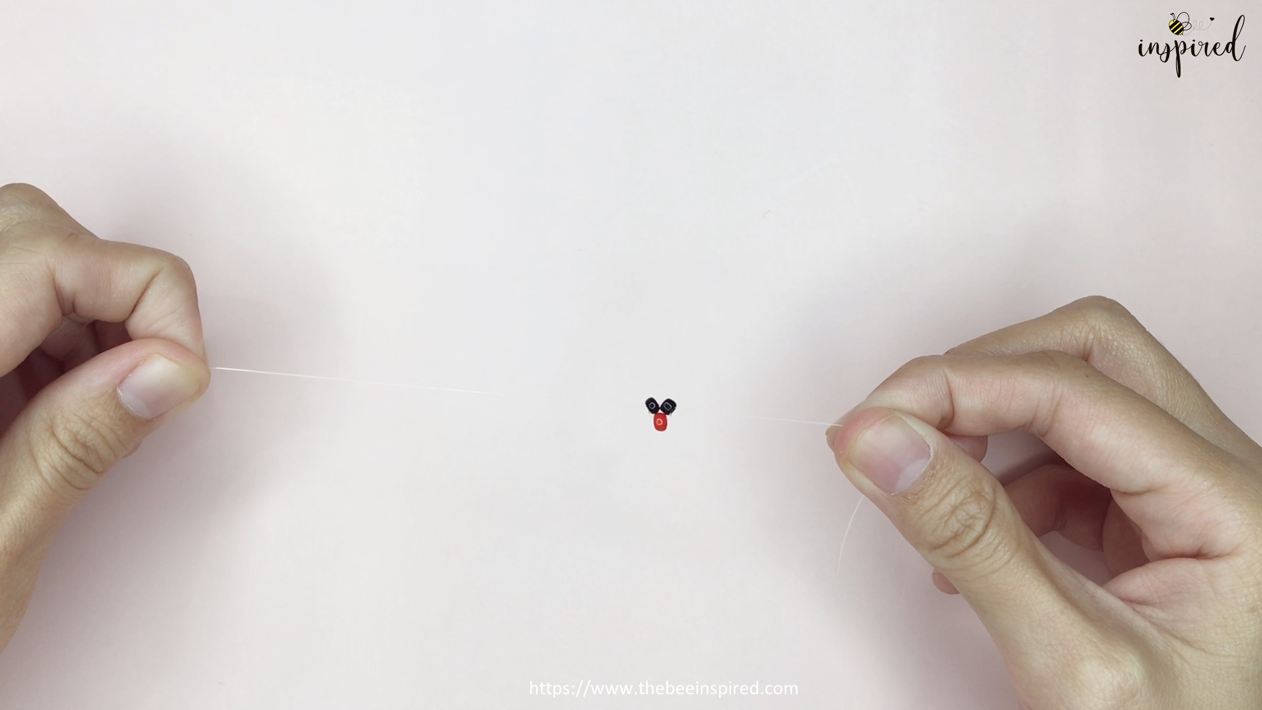 วิธีร้อยแหวนลูกปัดเต่าทอง ง่ายๆ สไตล์เกาหลี - How to Make Ladybug Beaded Ring_5
