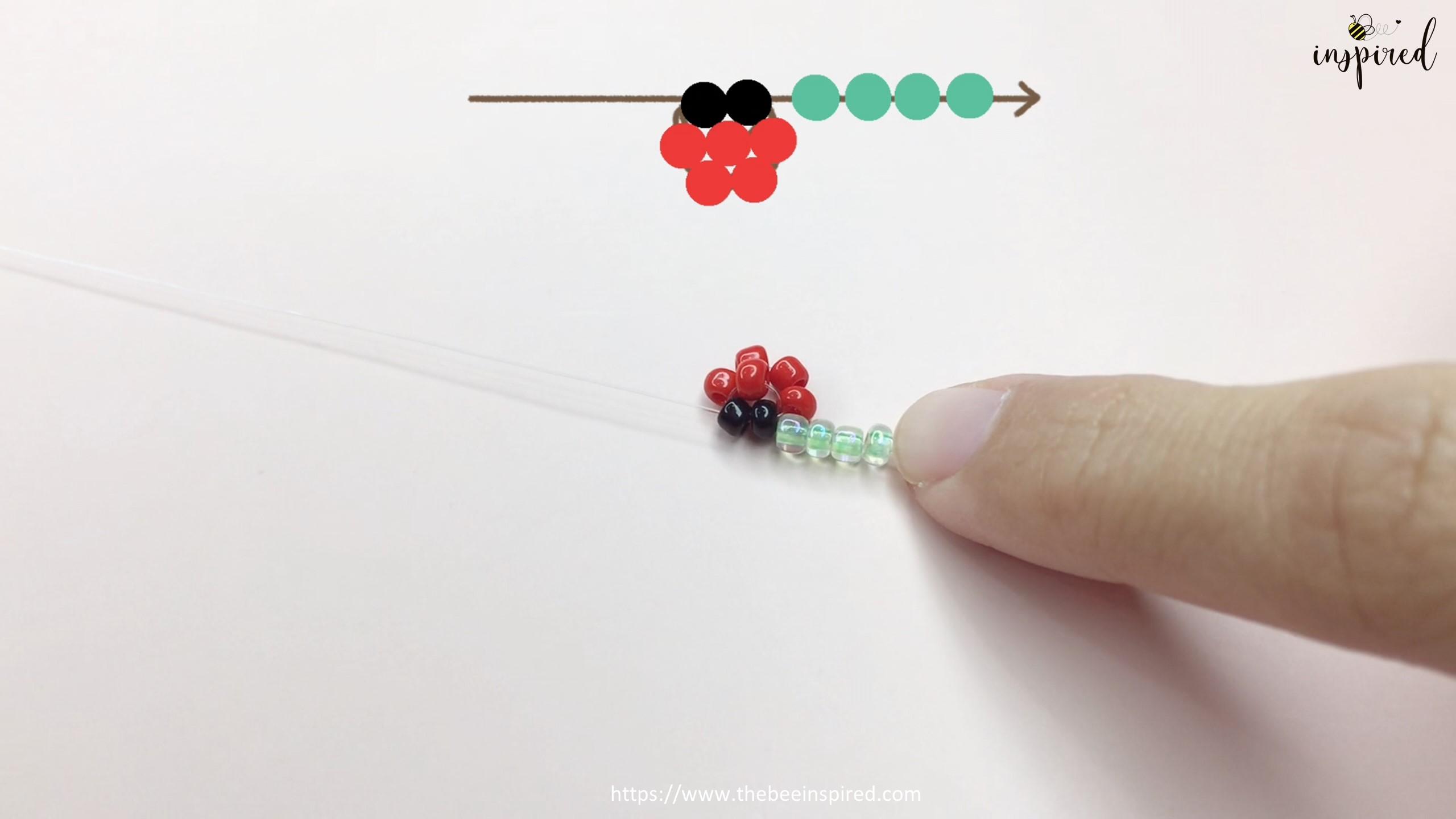 วิธีร้อยแหวนลูกปัดเต่าทอง ง่ายๆ สไตล์เกาหลี - How to Make Ladybug Beaded Ring_9