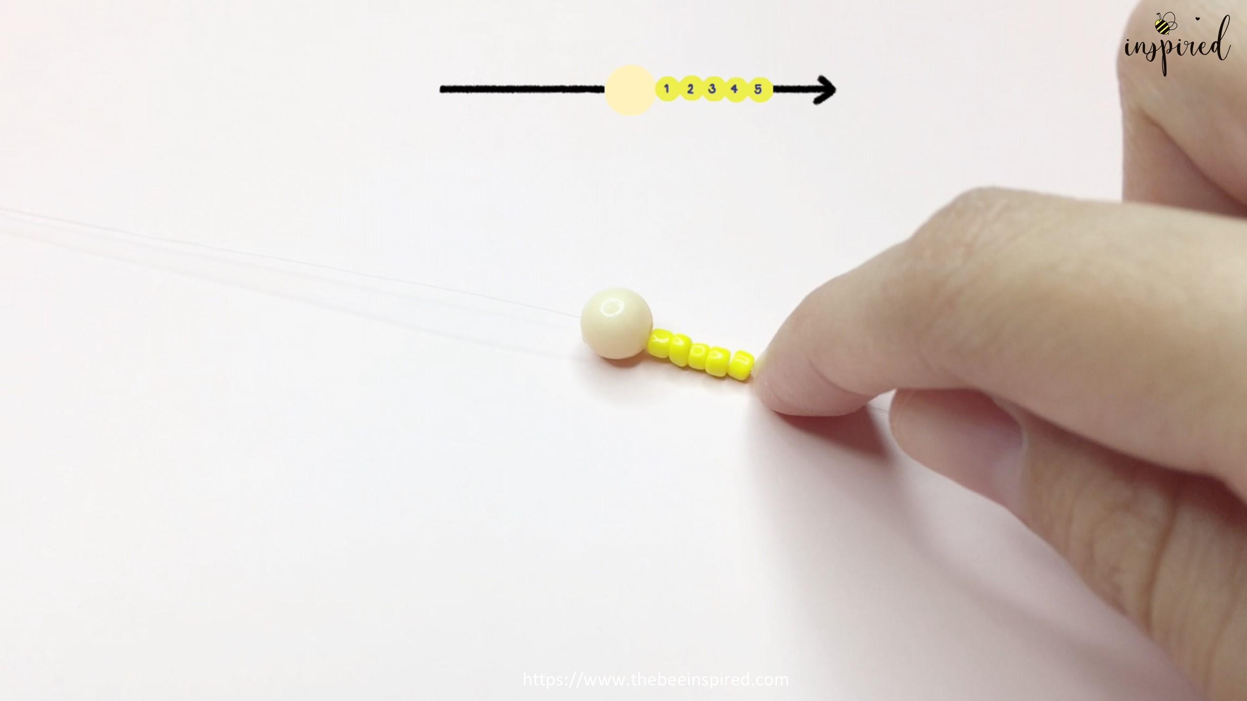 สอนร้อยแหวนลูกปัดดอกทานตะวัน ทำง่ายๆ สไตล์เกาหลี - How to Make Sunflower Beaded Ring_2
